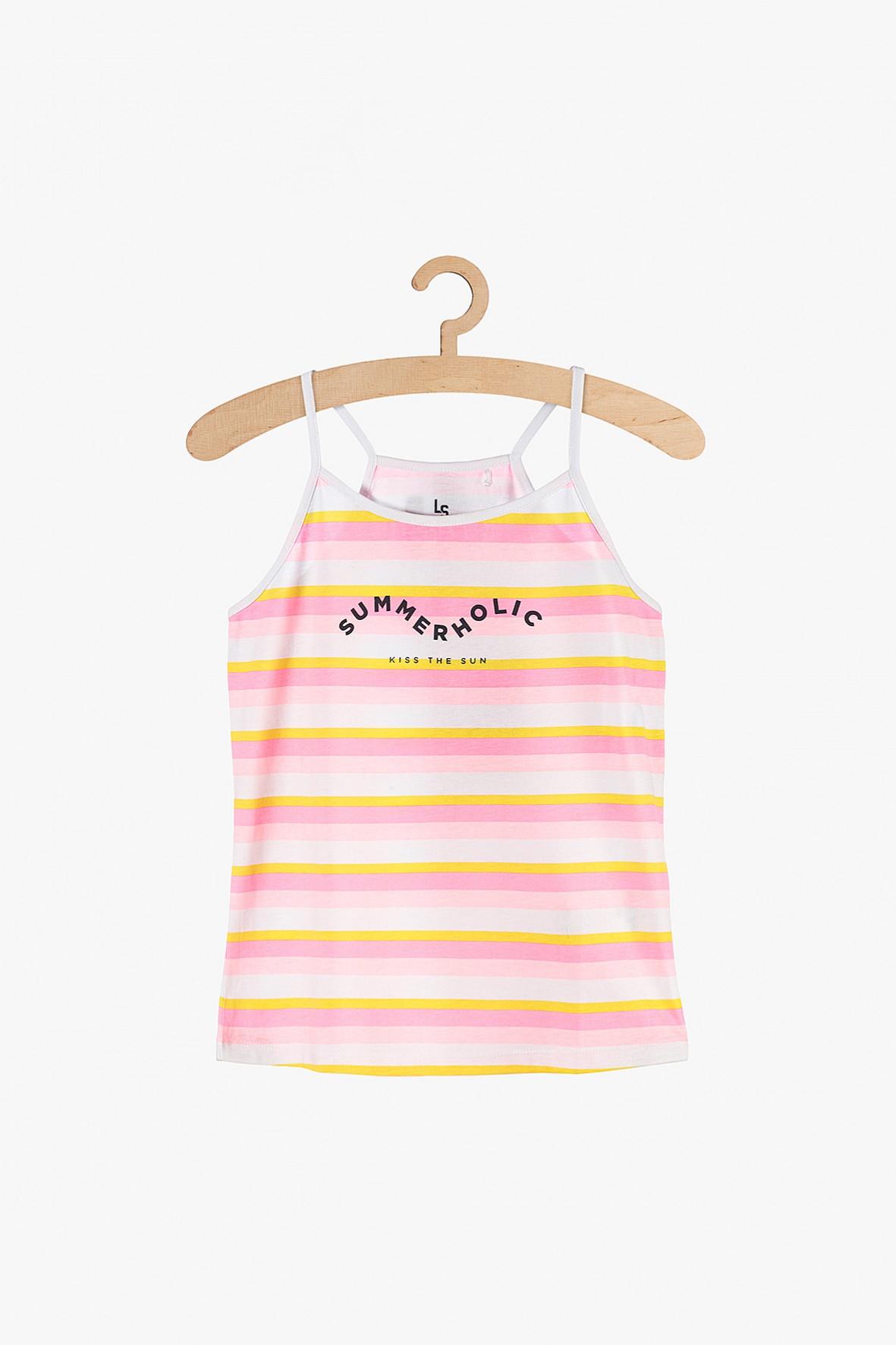 Koszulka na lato dla dziewczynki- kolorowe paski