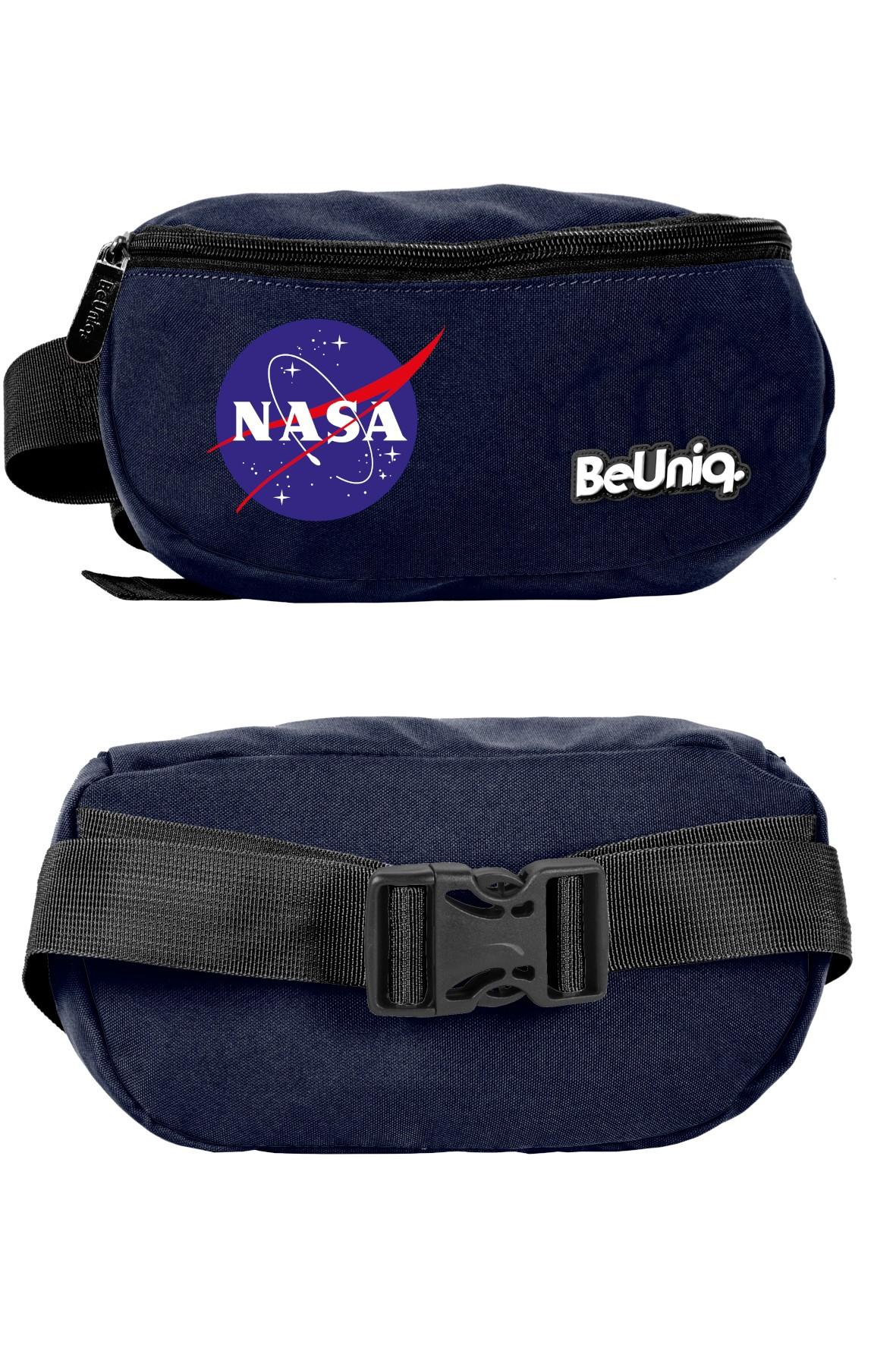 Granatowa saszetka na pas NASA