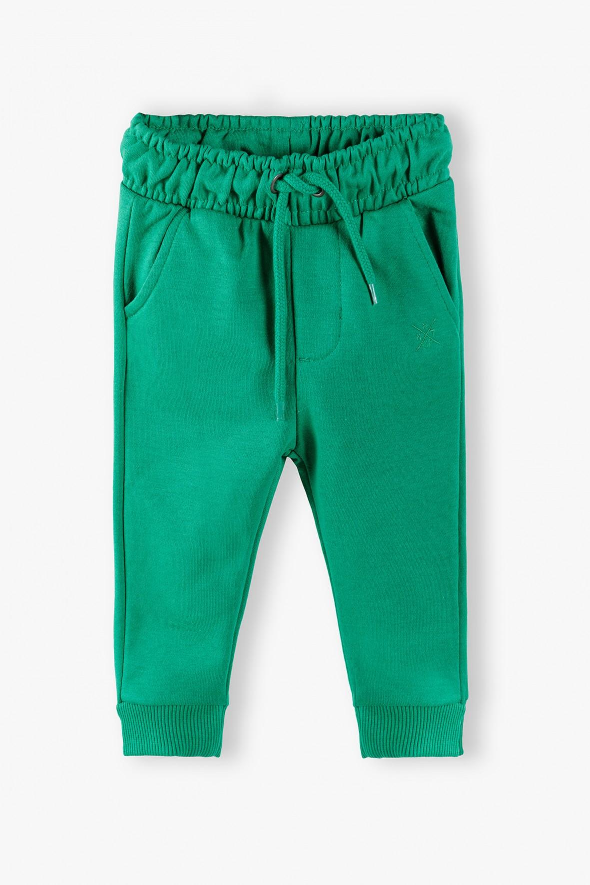 Spodnie dresowe niemowlęce- zielone