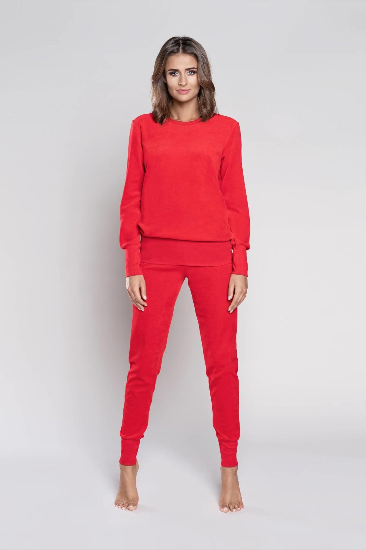 Komplet dresowy długi rękaw, długie spodnie - czerwony