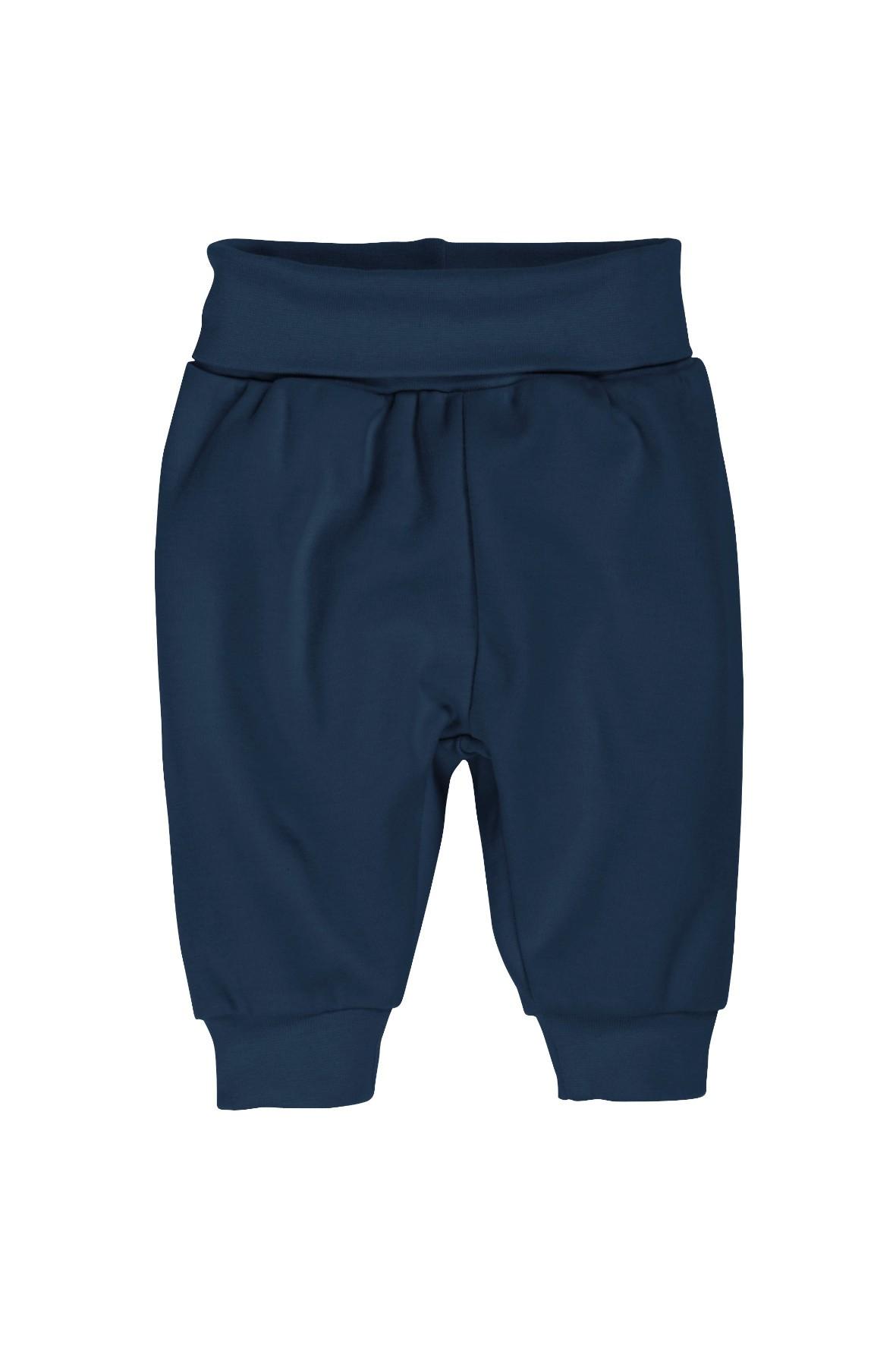 Bawełniane spodnie dresowe dla chłopca-granatowe