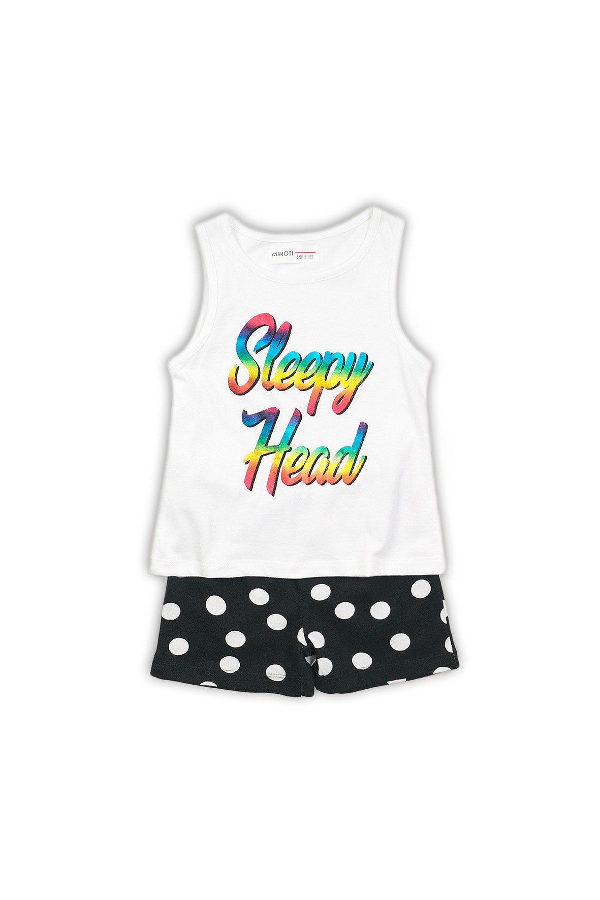 """Pidżama dziewczęca czarno-biała """"Sleepy Head"""""""