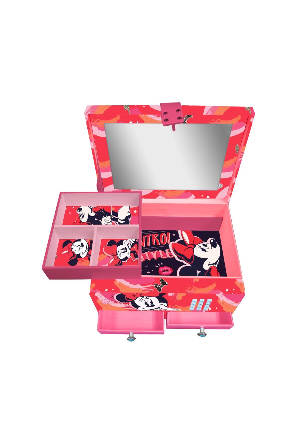 Pudełko na biżuterię z kodem i efektami świetlnymi, 18x13x12 cm Minnie