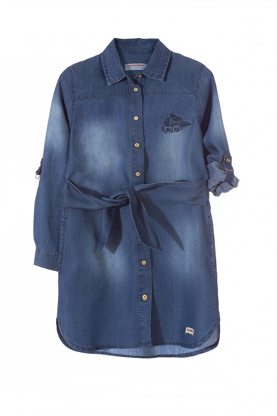 Sukienka dziewczęca jeansowa niebieska