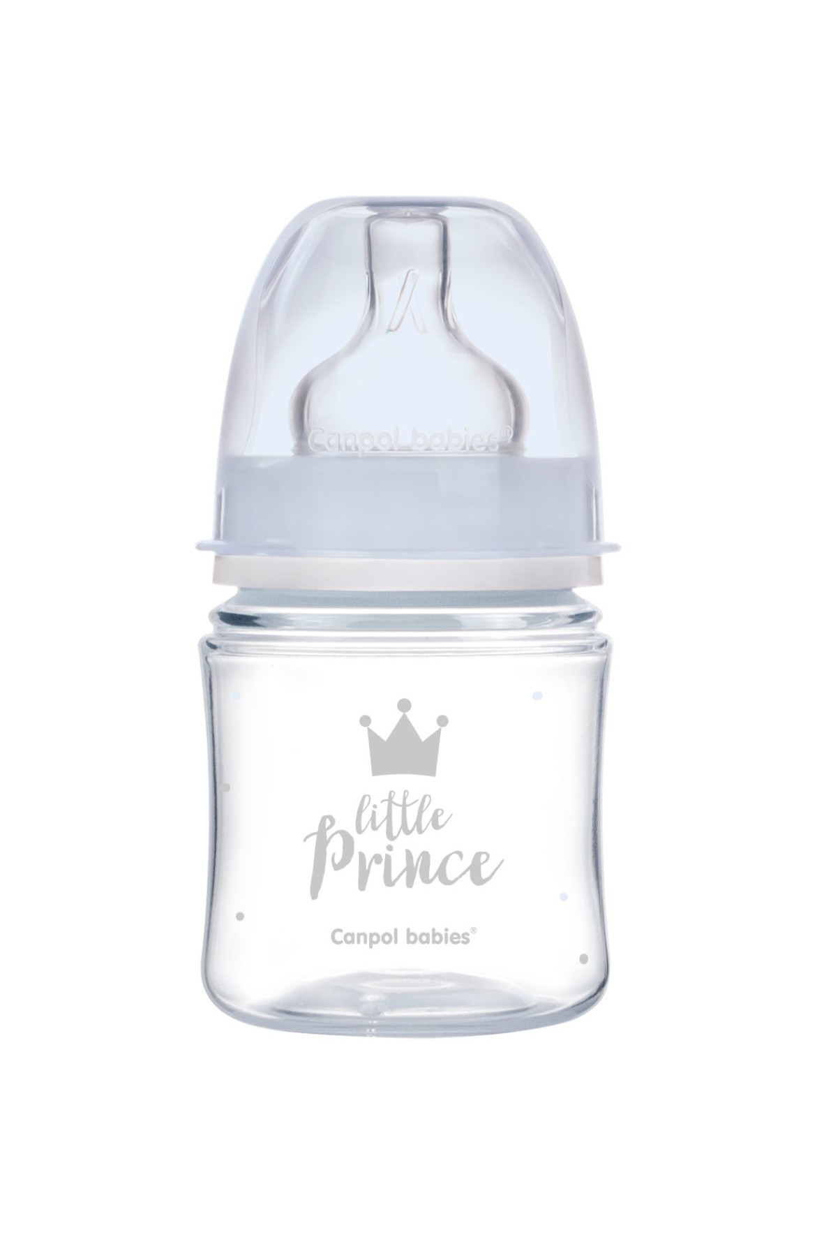 Butelka szeroka antykolkowa 120ml Easy Start Royal- niebieska 0msc+
