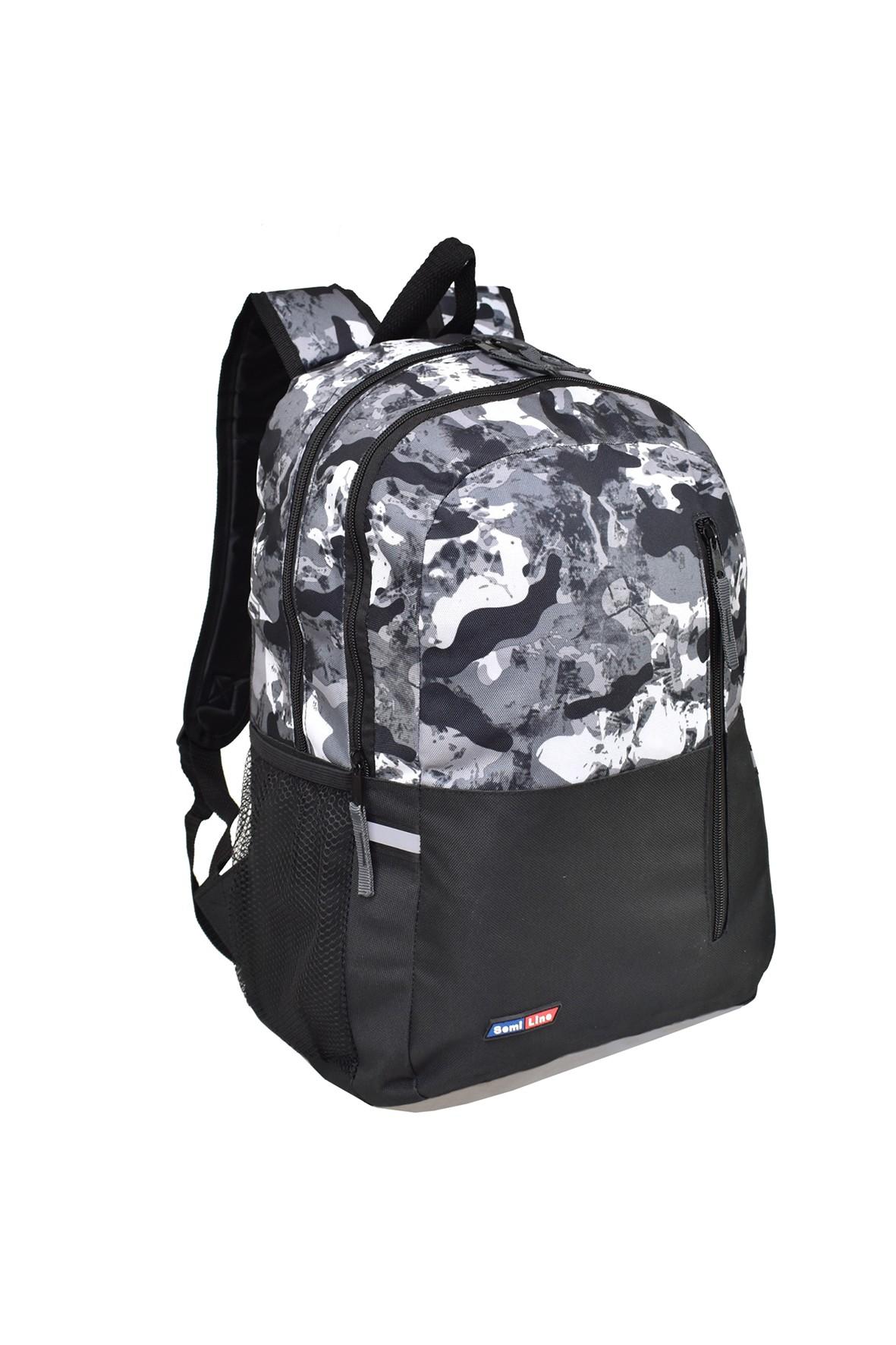 Plecak szkolny dla chłopca szaro-czarny