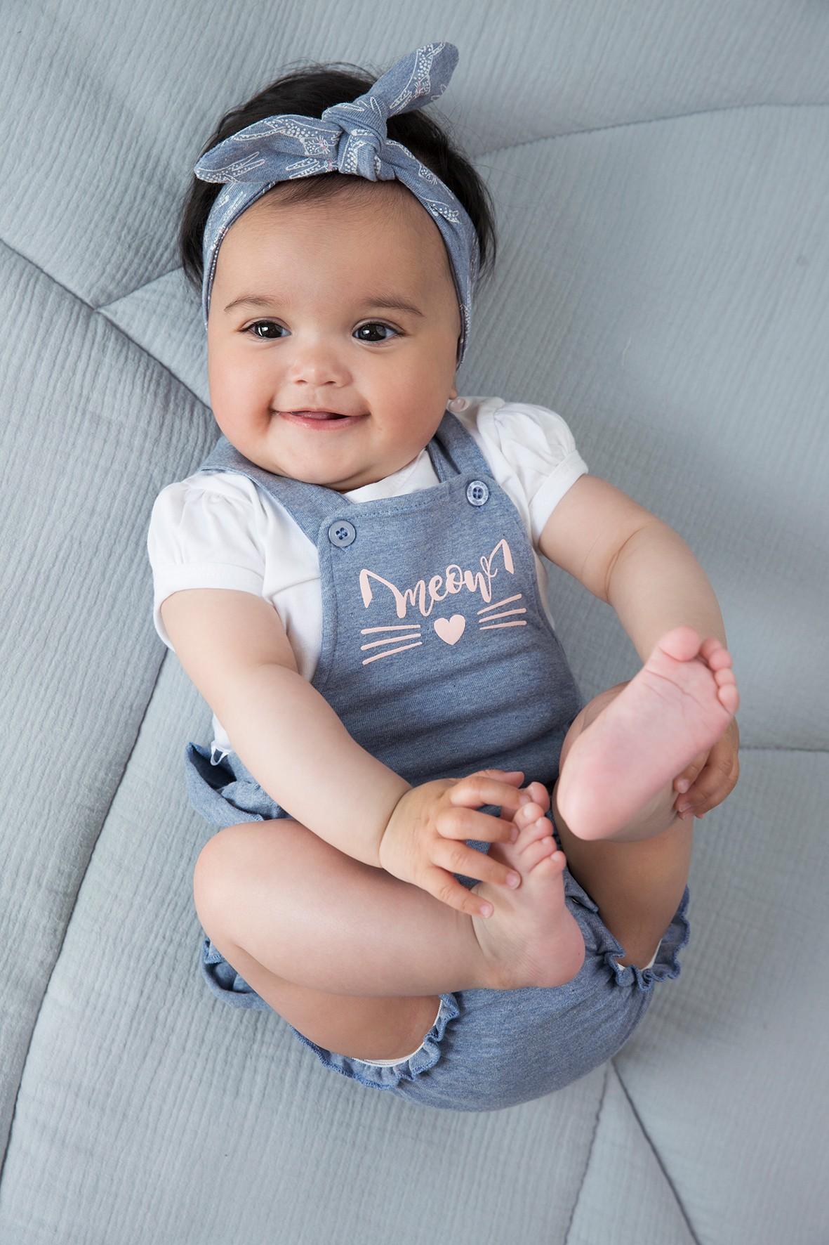 Komplet niemowlęcy - bluzka i sukienka/body