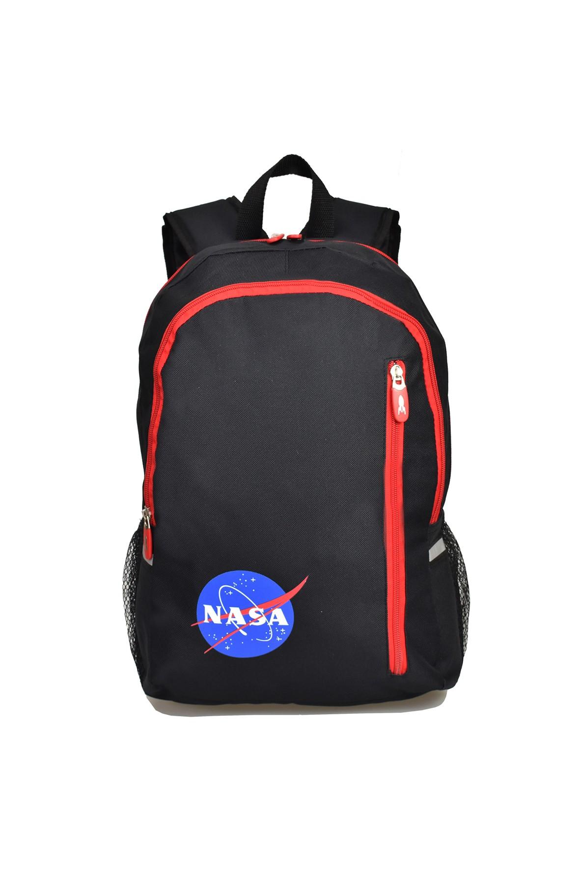 Czarno-czerwony plecak Nasa