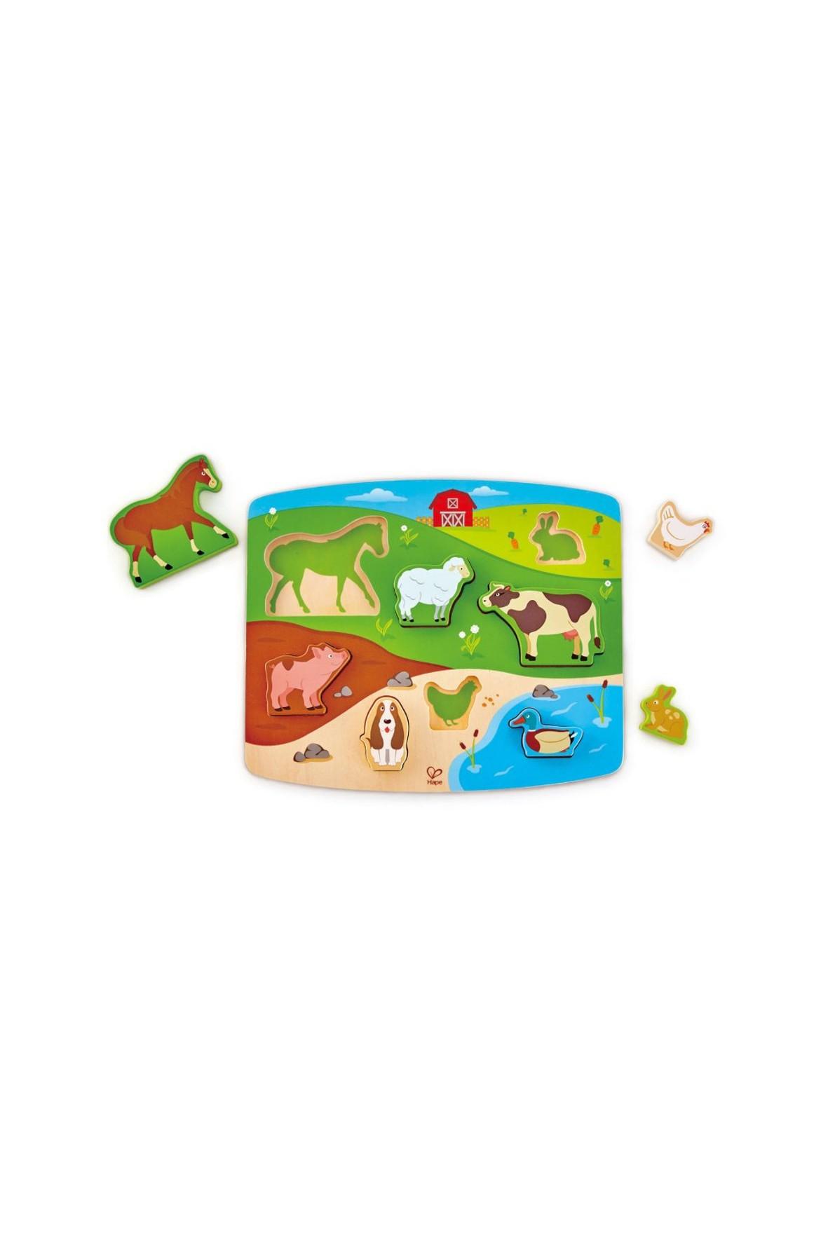 Drewniana układanka Zwierzęta hodowlane 24msc+