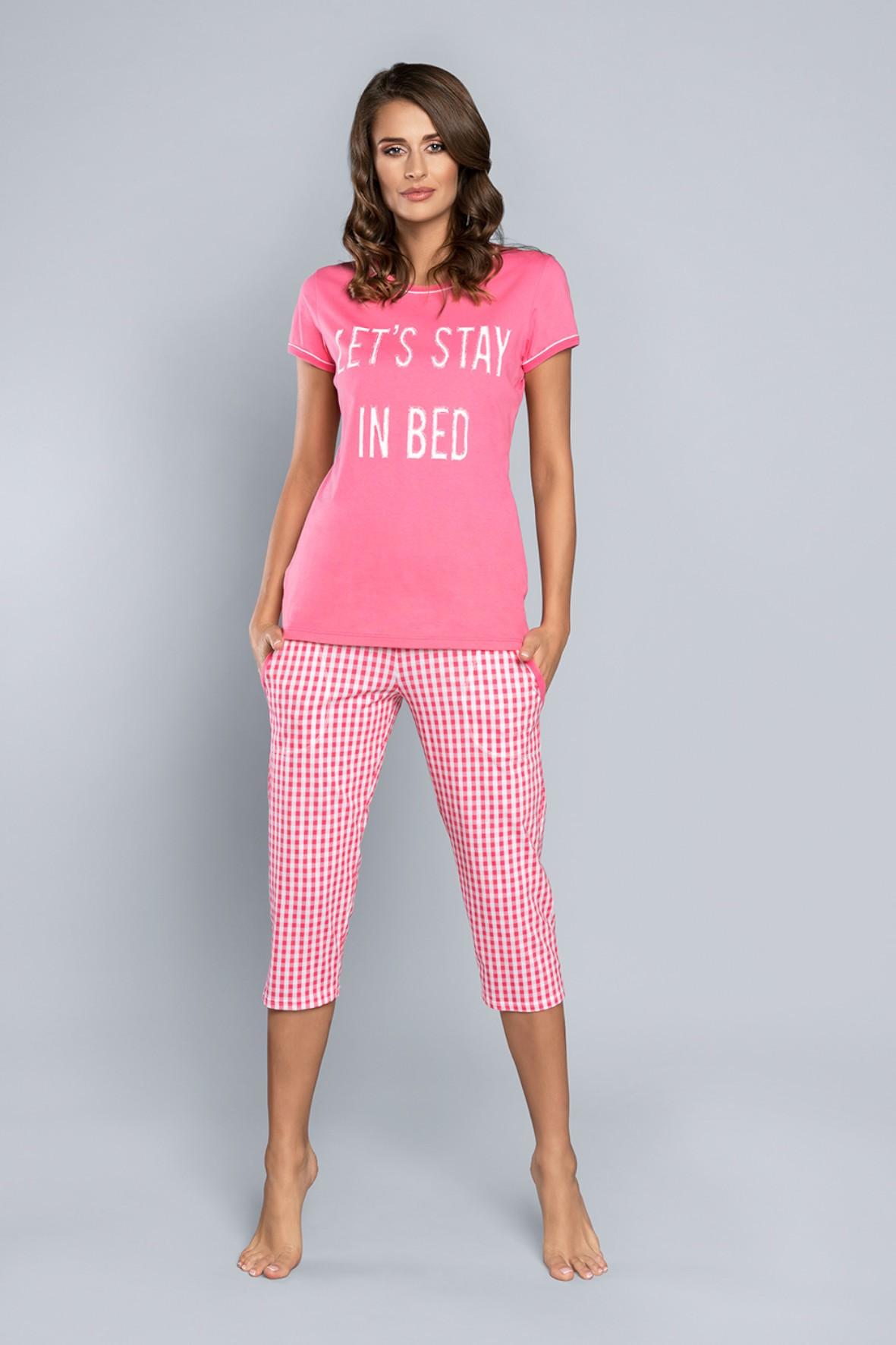 Dwuczęściowa piżama damska-Let s Stay In Bed