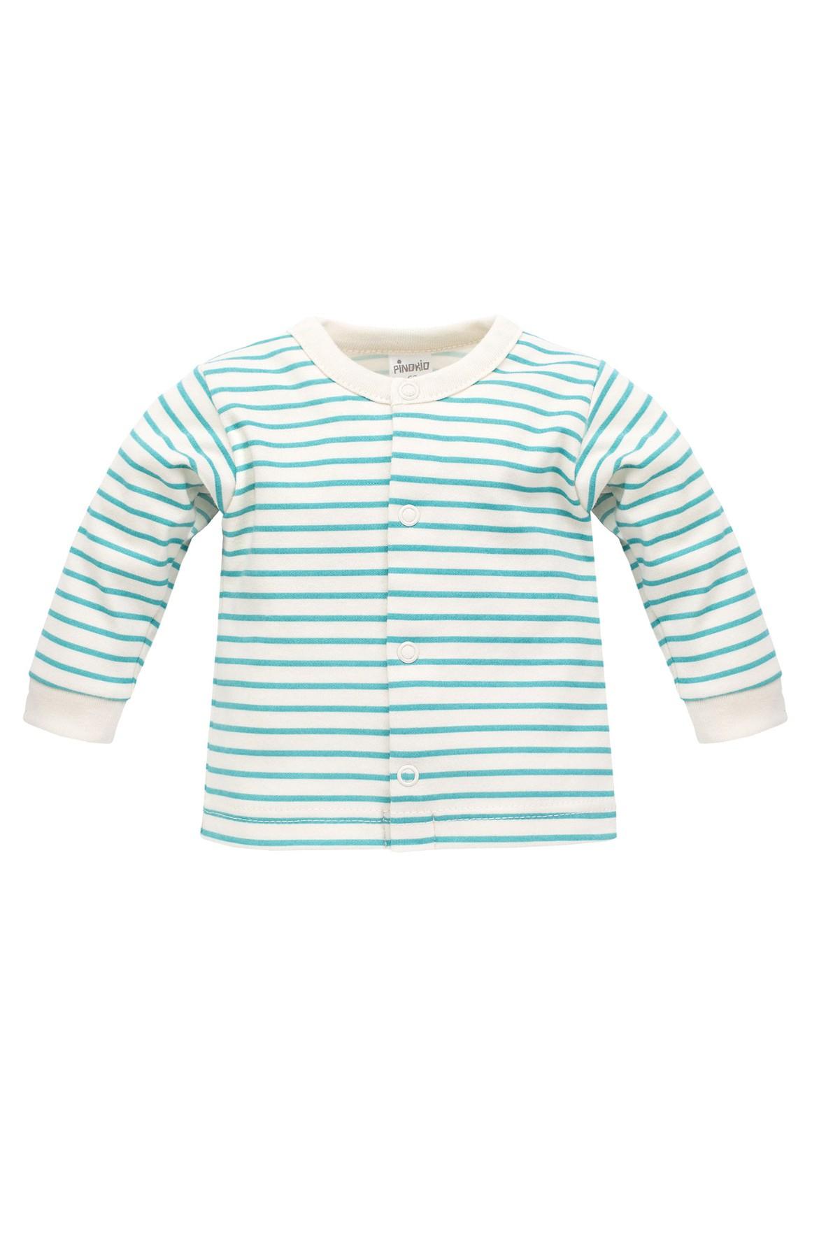 Kaftanik niemowlęcy w niebieskie paski Nice Day