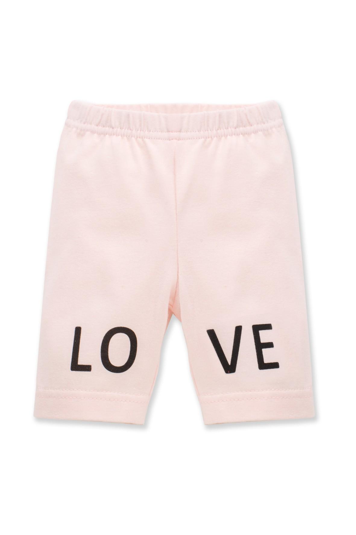 Leginsy dziewczęce różowe Love
