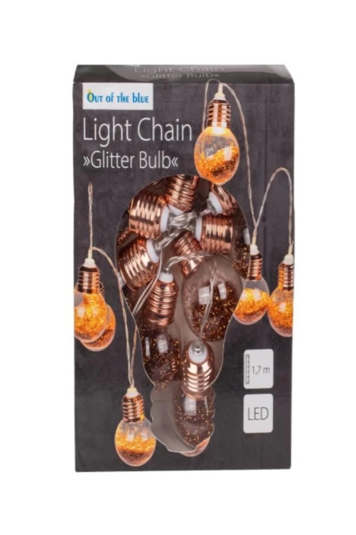 Lampki dekoracyjne Glitter Bulbs - 10 LED 1,7metra