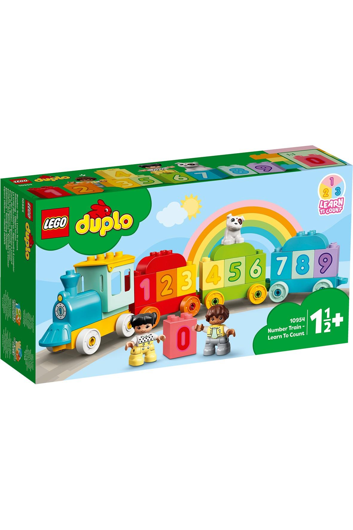 LEGO DUPLO My First - Pociąg z cyferkami - 23 elementy, wiek 18 msc +