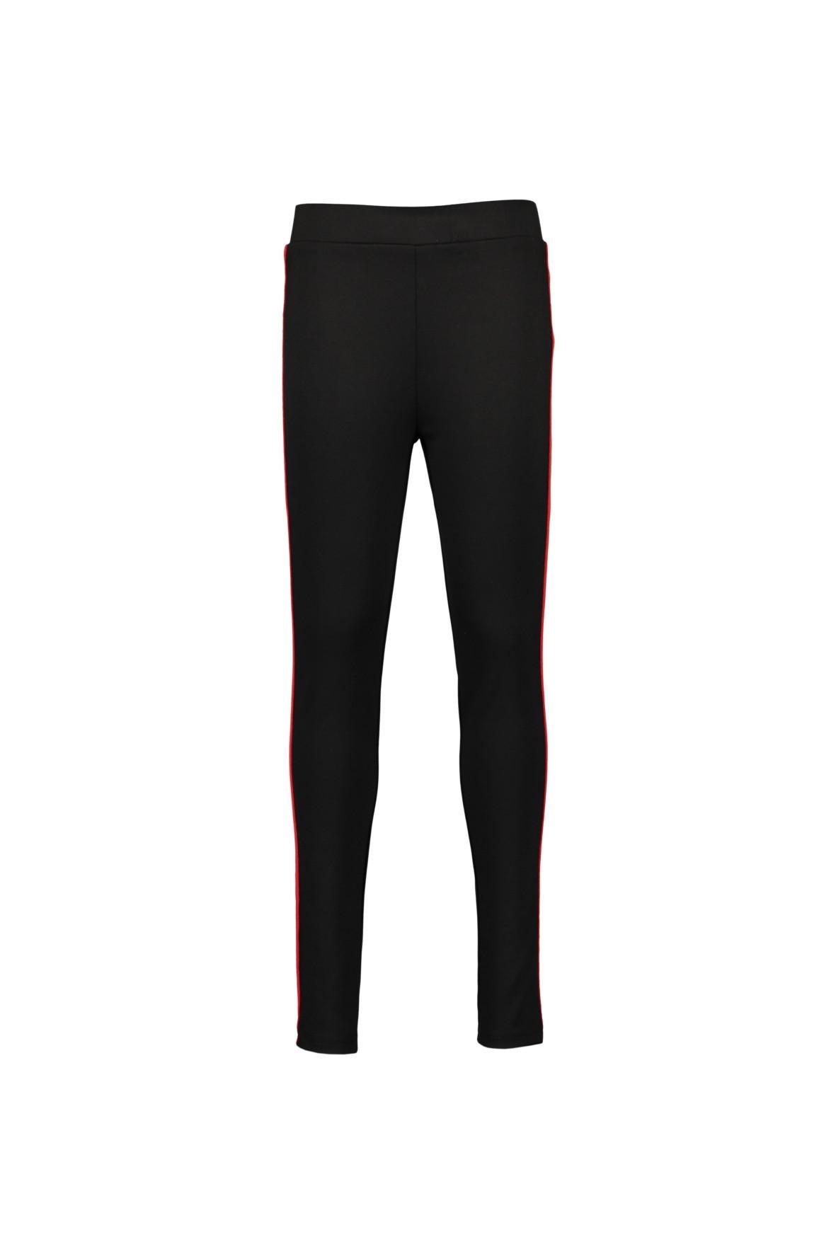 Spodnie dziewczęce czarne z lampasem