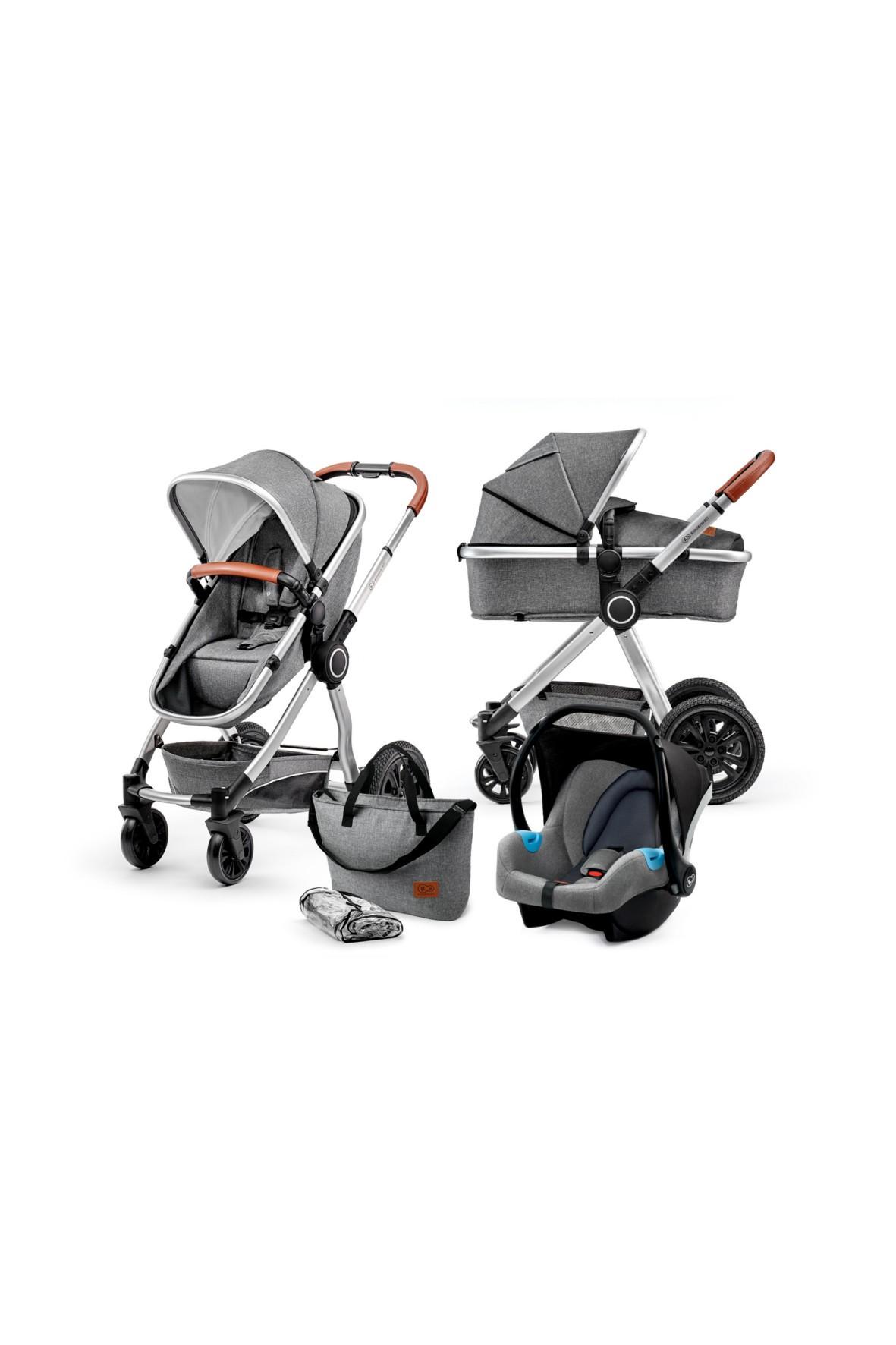 Wózek wielofunkcyjny 3w1 VEO szary Kinderkraft