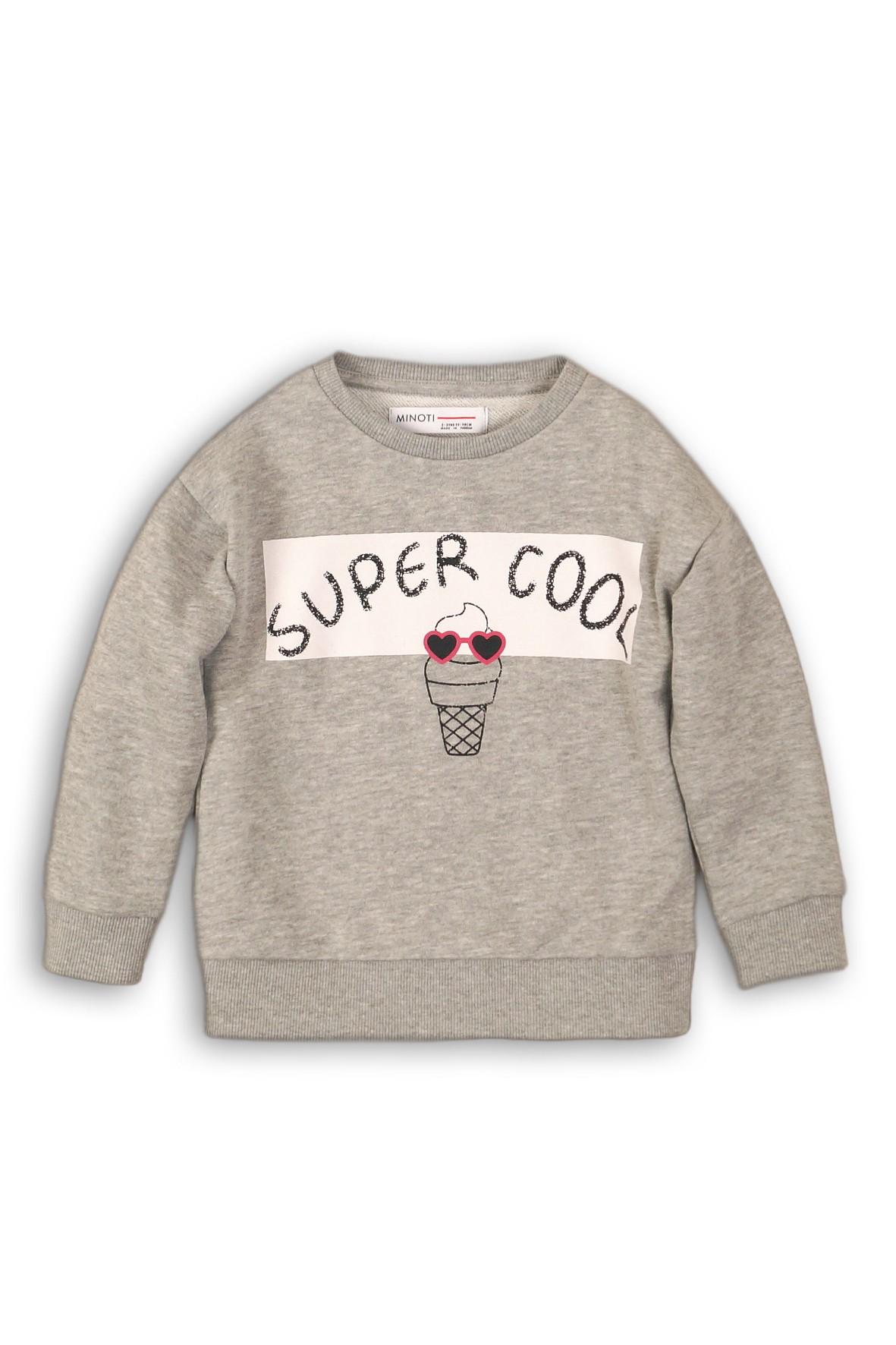 Bluza dresowa dziewczęca szara Super Cool rozm 92/98