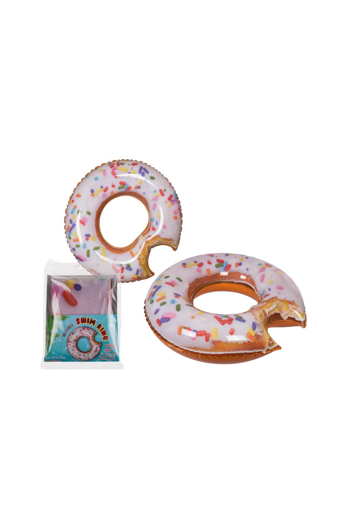Koło do pływania - nadgryziony lukrowany donut - 19x2x26 cm