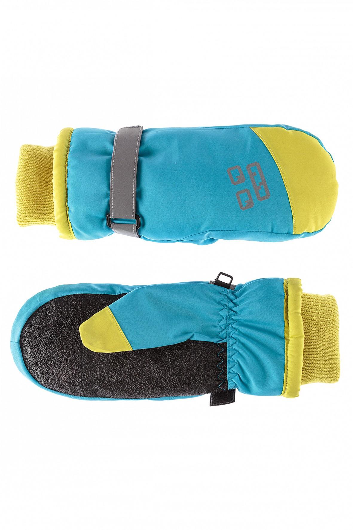 Rękawiczki chłopięce narciarskie z elementami odblaskowymi