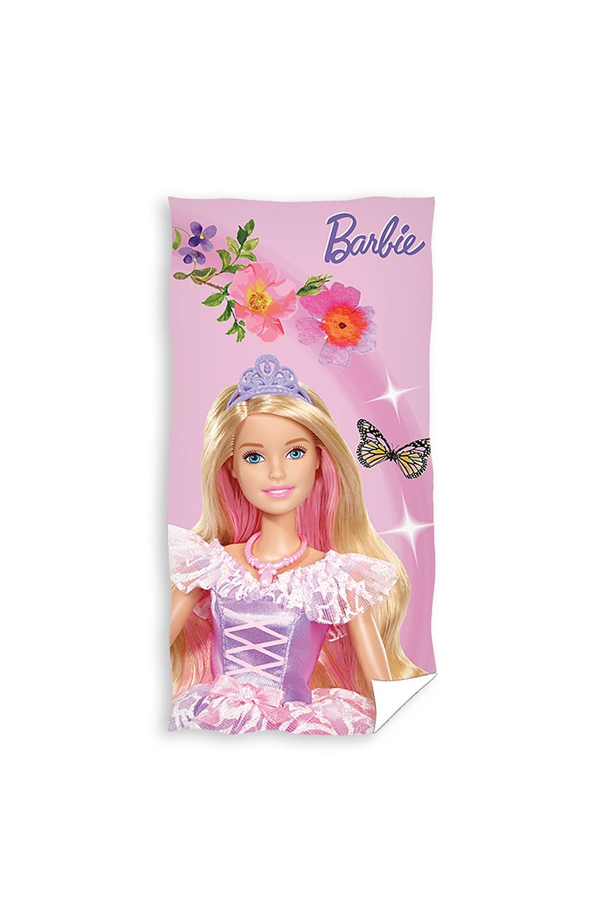 Ręcznik kąpielowy bawełniany Barbie 70x140 cm