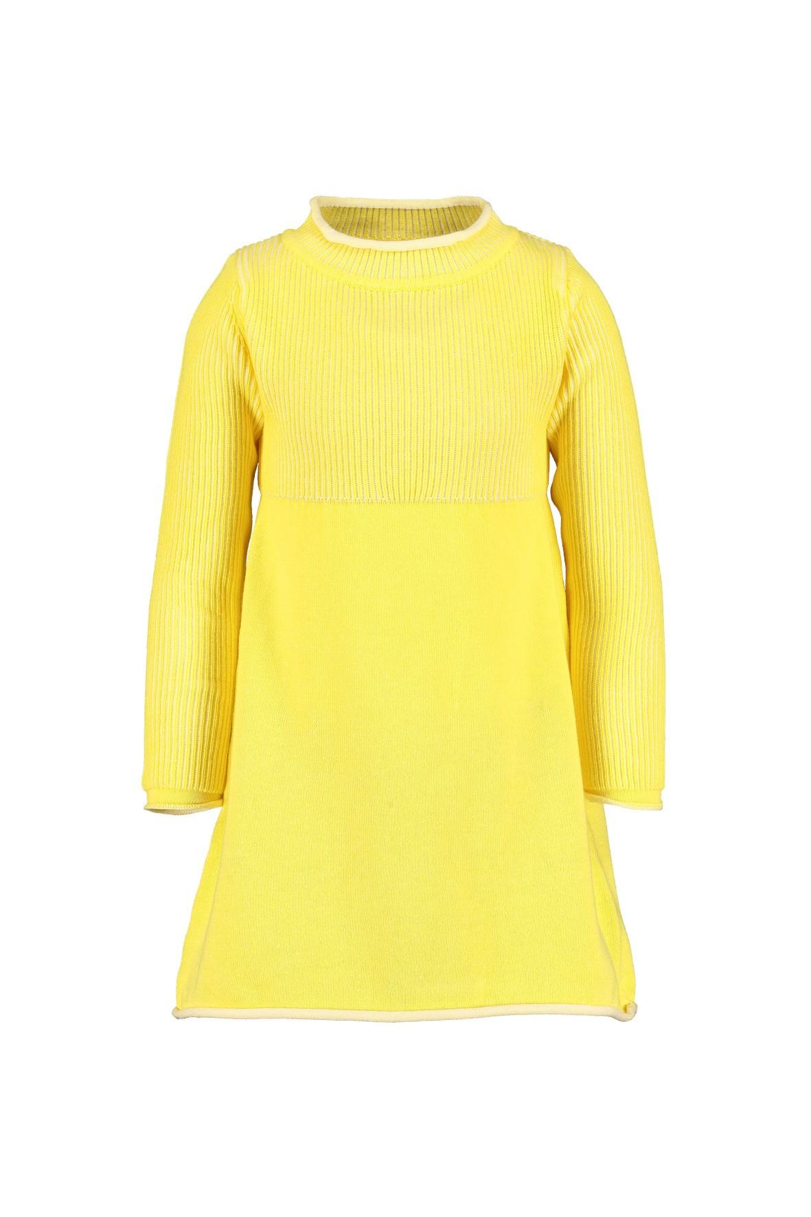 Żółta bawełniana sukienka z półgolfem