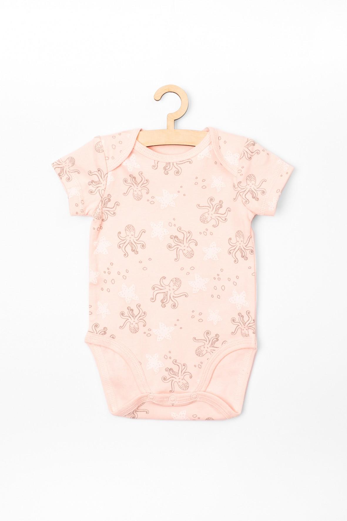 Body dziewczęce różowy w ośmiorniczki i rozgwiazdy