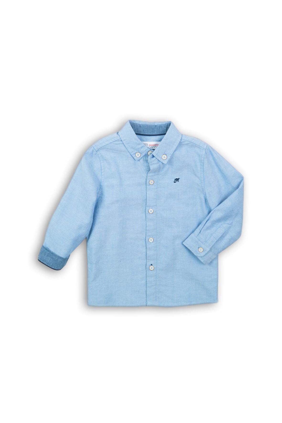 Koszula dla chłopca- niebieska z długim rękawem