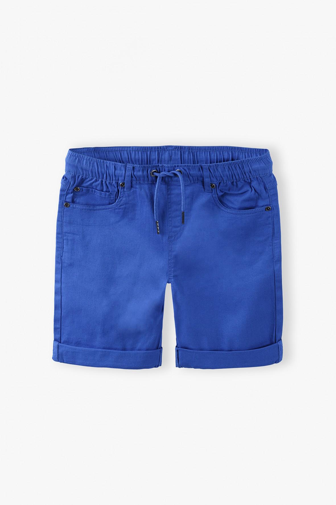Szorty dla chłopca niebieskie z kieszeniami