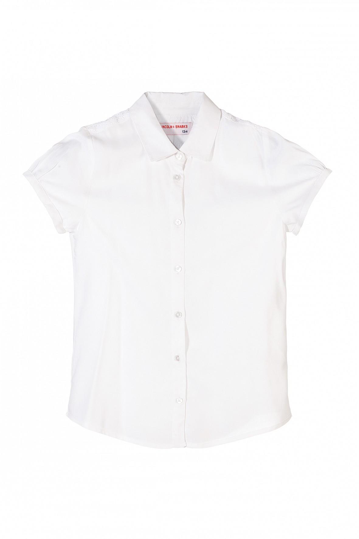 Koszula dziewczęca biała 4J3501