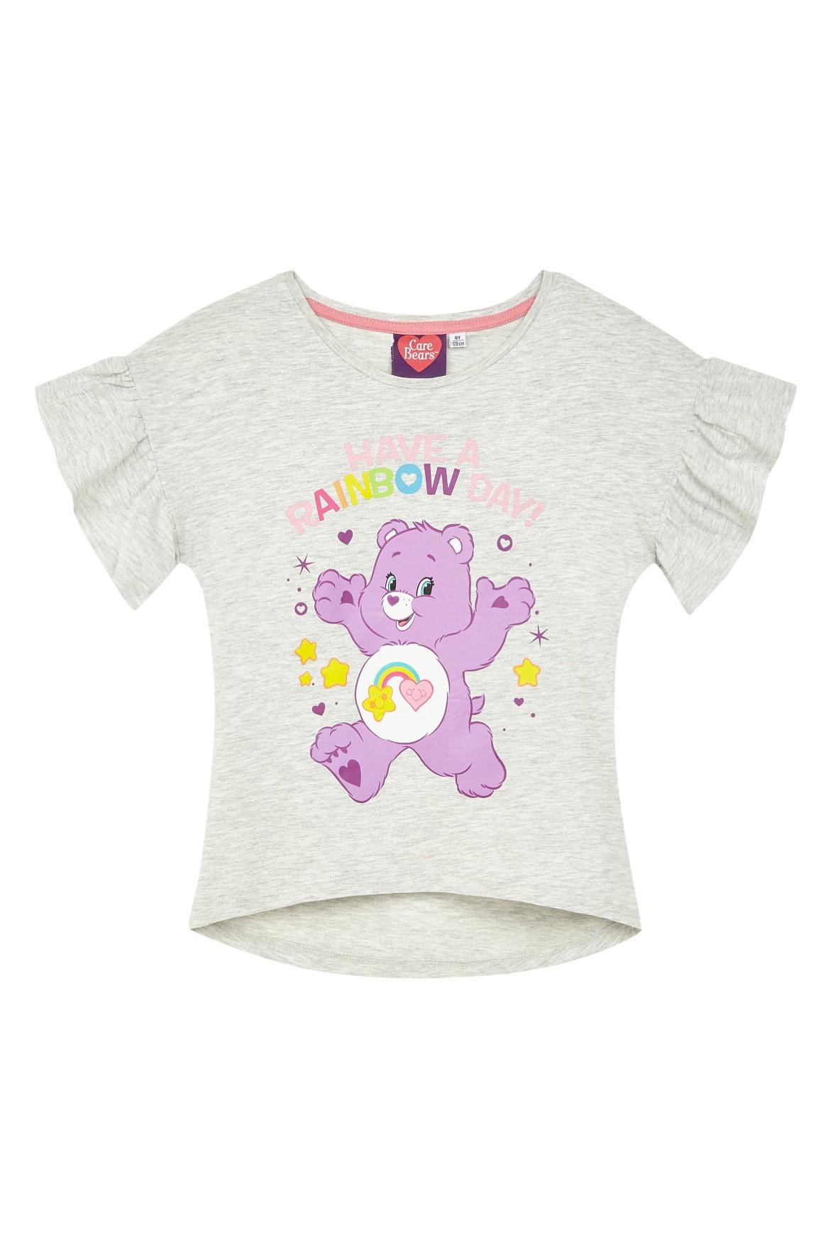 Koszulka dziewczęca Troskliwe Misie-ozdobny rękaw