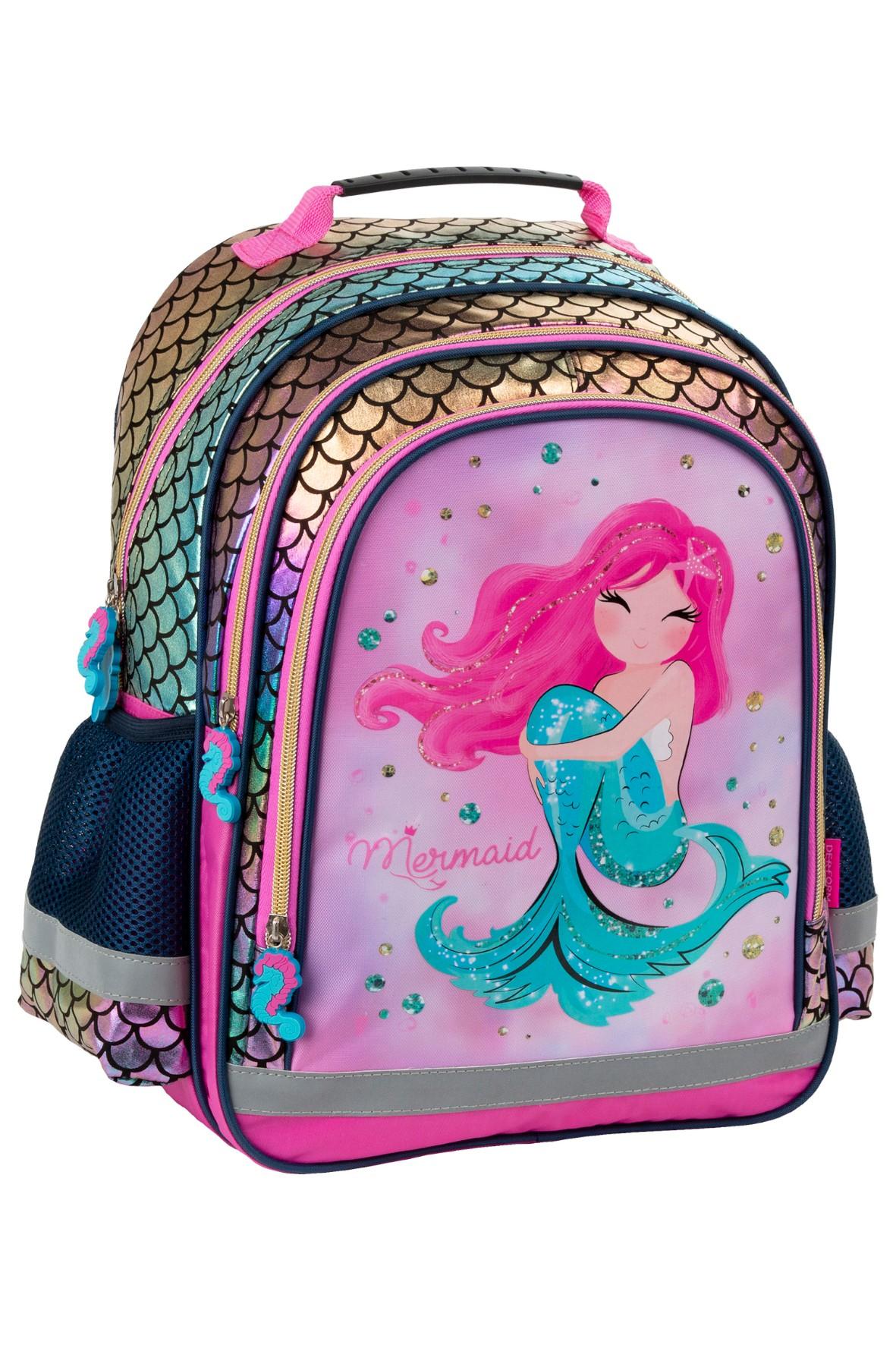 Plecak szkolny dla dziewczynki Syrenka