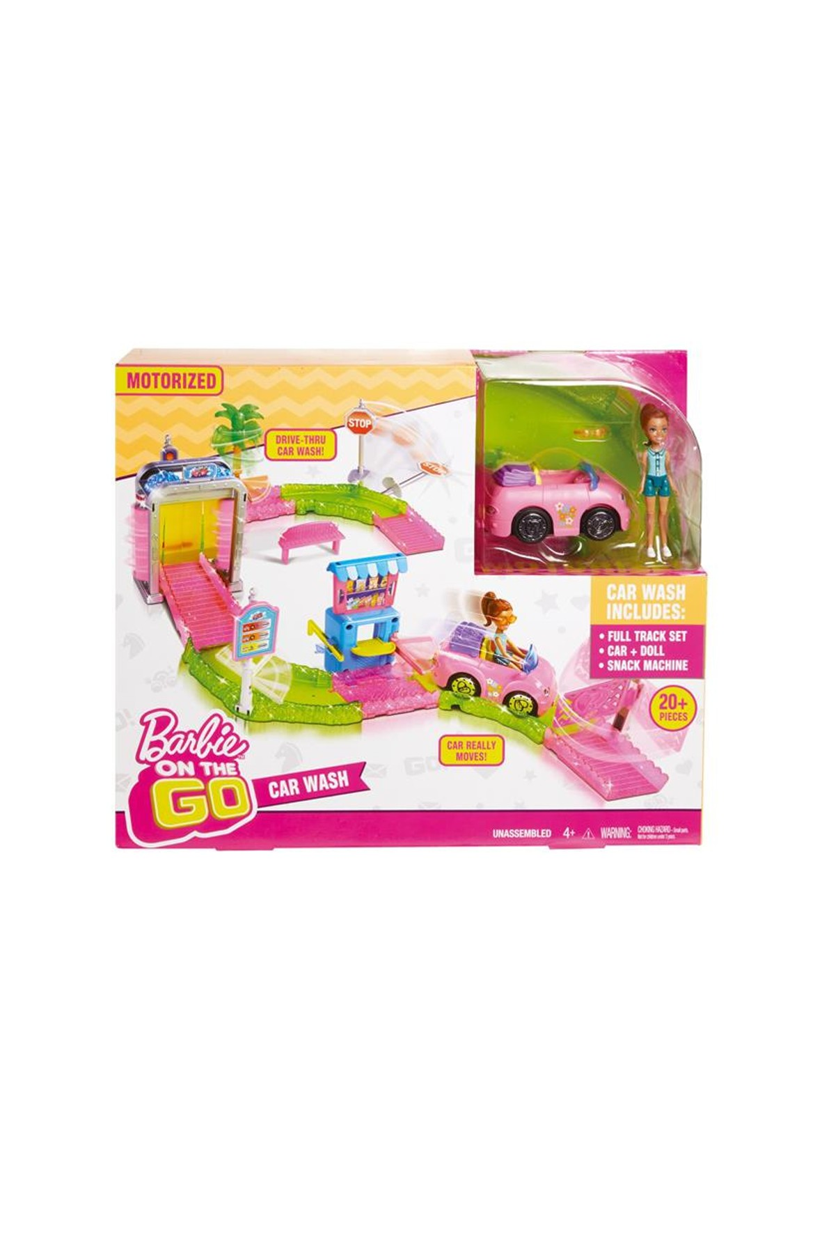 Barbie Myjnia samochodowa zestaw