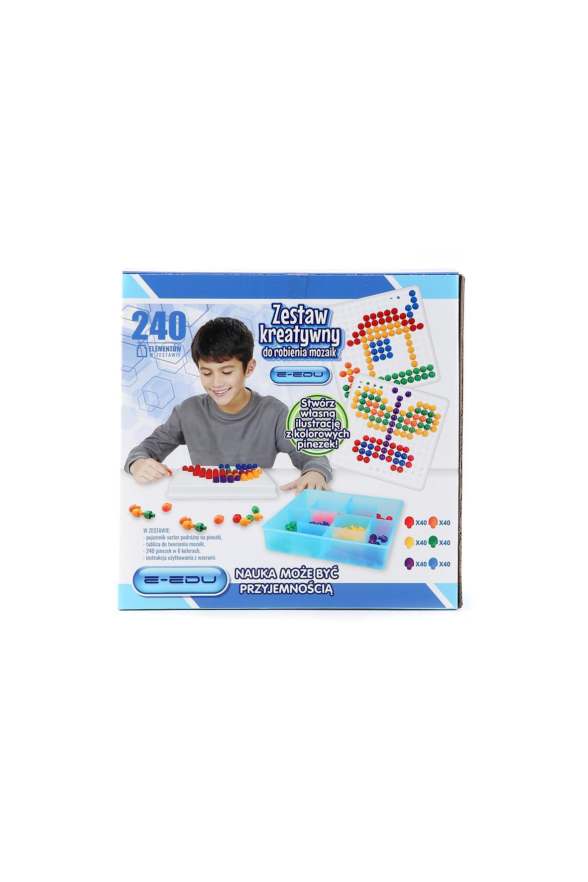 Zestaw kreatywny do robienia mozajek - 240 elementów wiek 3+