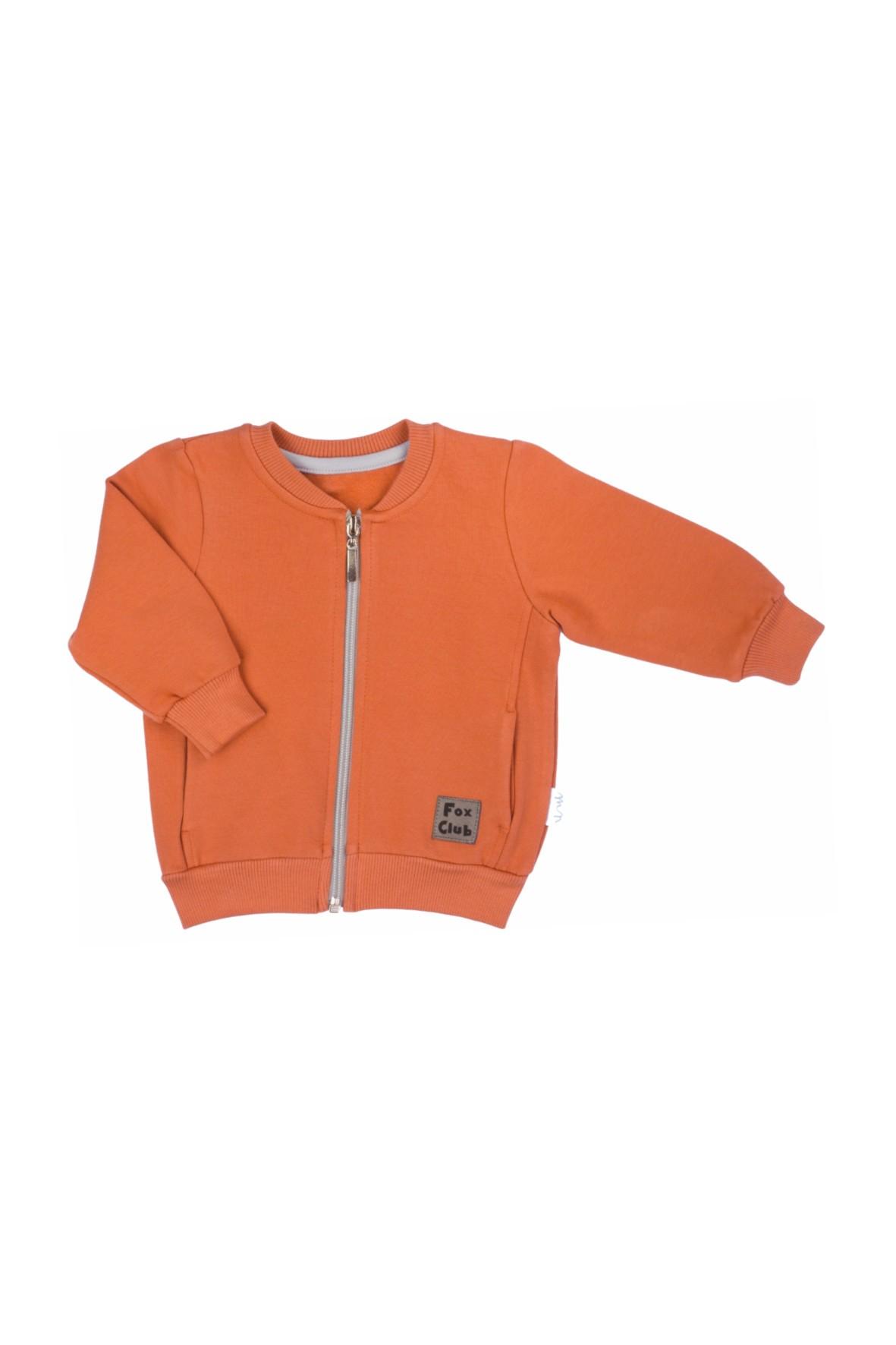 Bluza dresowa chłopięca Fox Club -pomarańczowa