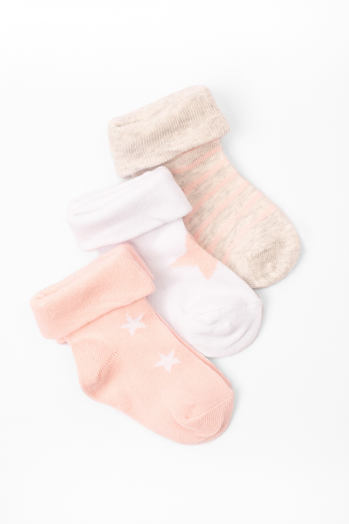 Skarpety niemowlęce w gwiazdki 3-pak