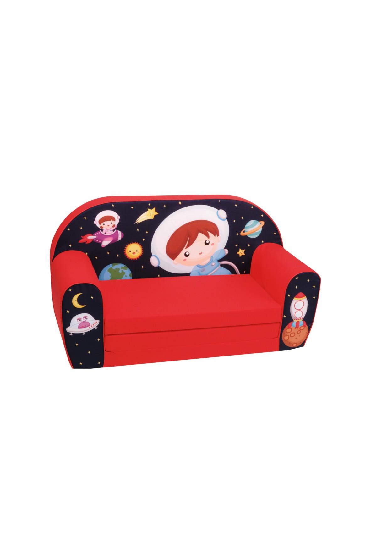Rozkładana piankowa sofa dla dziecka Delsit Kosmonauta