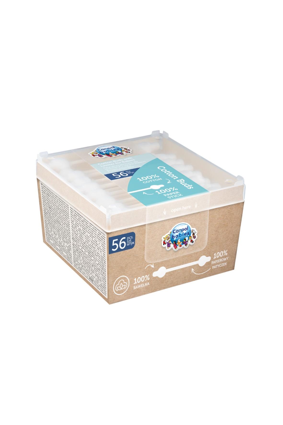 Canpol babies bezpieczne patyczki higieniczne dla niemowląt 56 szt.