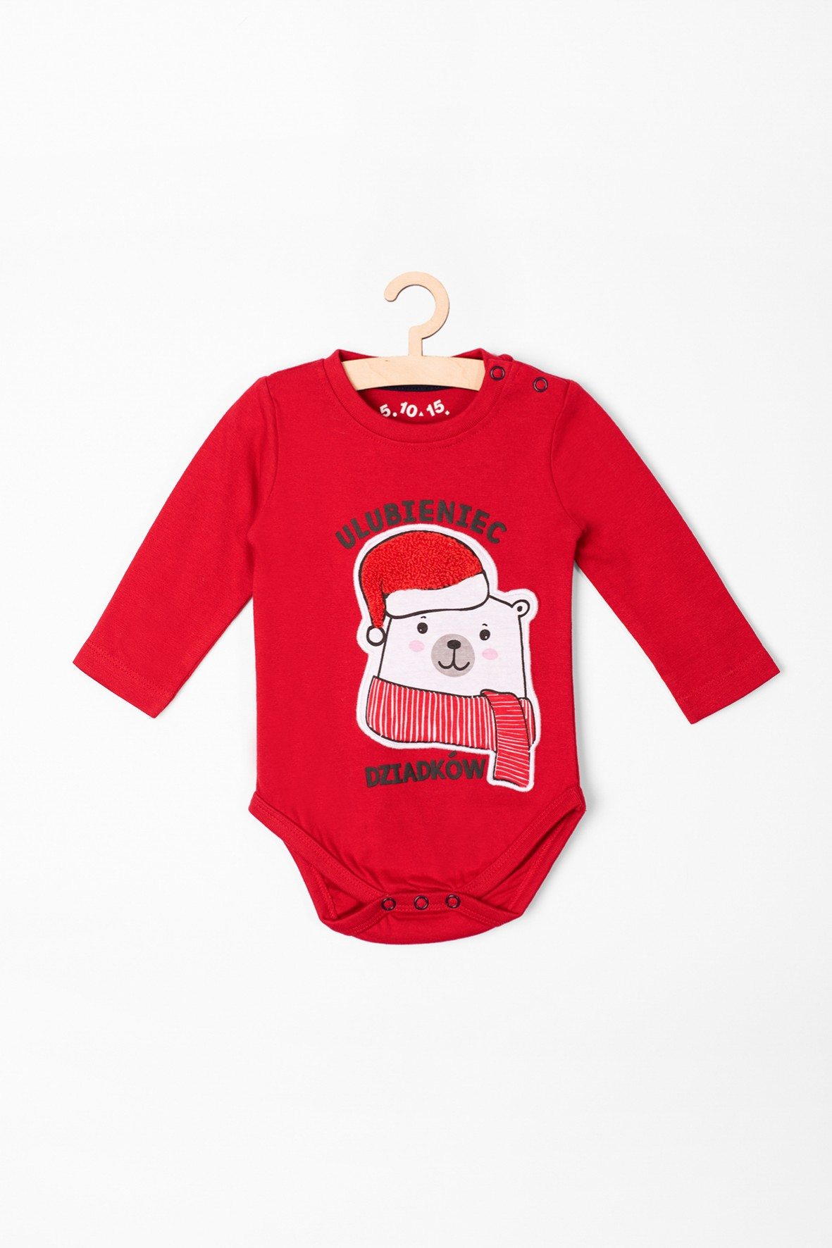 Body niemowlęce świąteczne z napisem- Ulubieniec dziadków