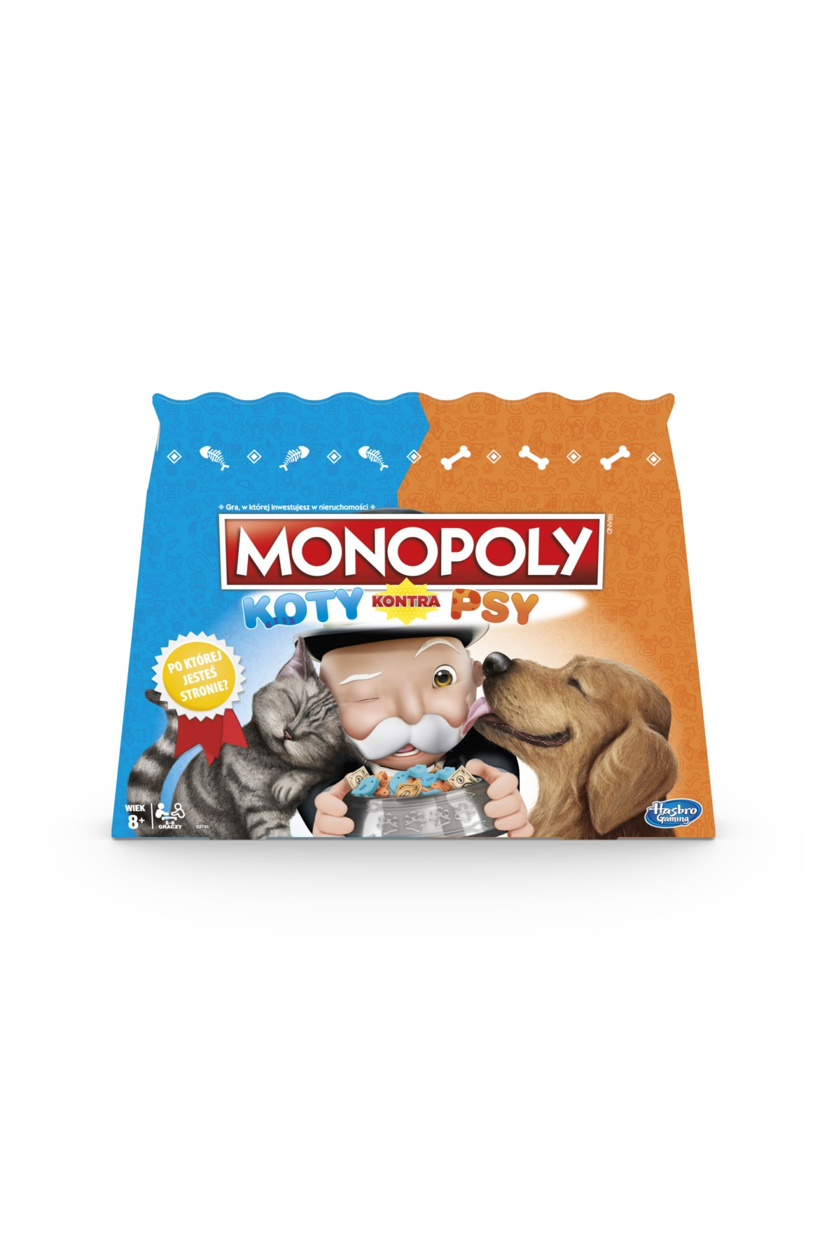 Gra Monopoly Koty kontra Psy 8+