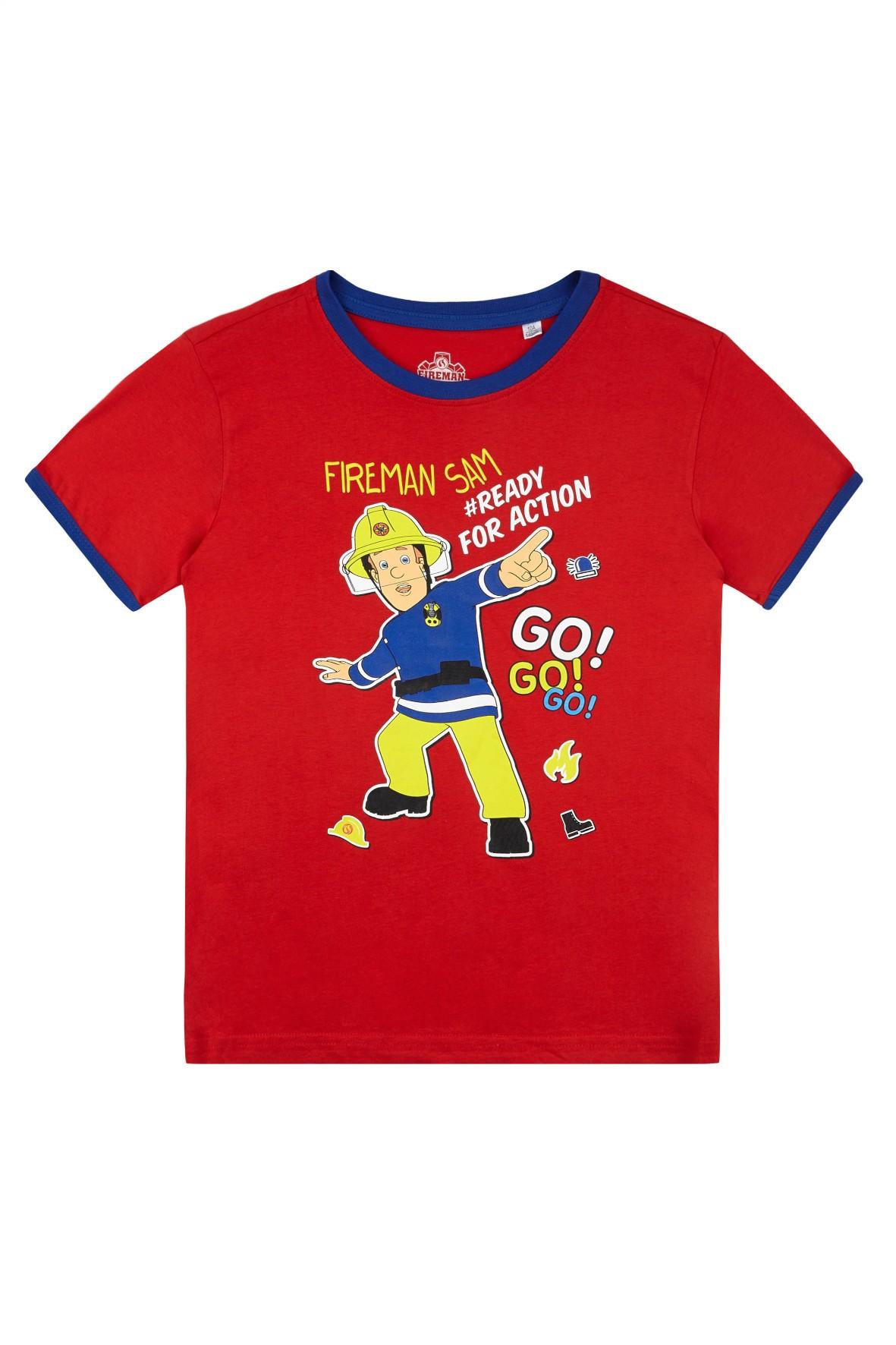 Koszulka chłopięca Strażak Sam-czerwona rozm 140