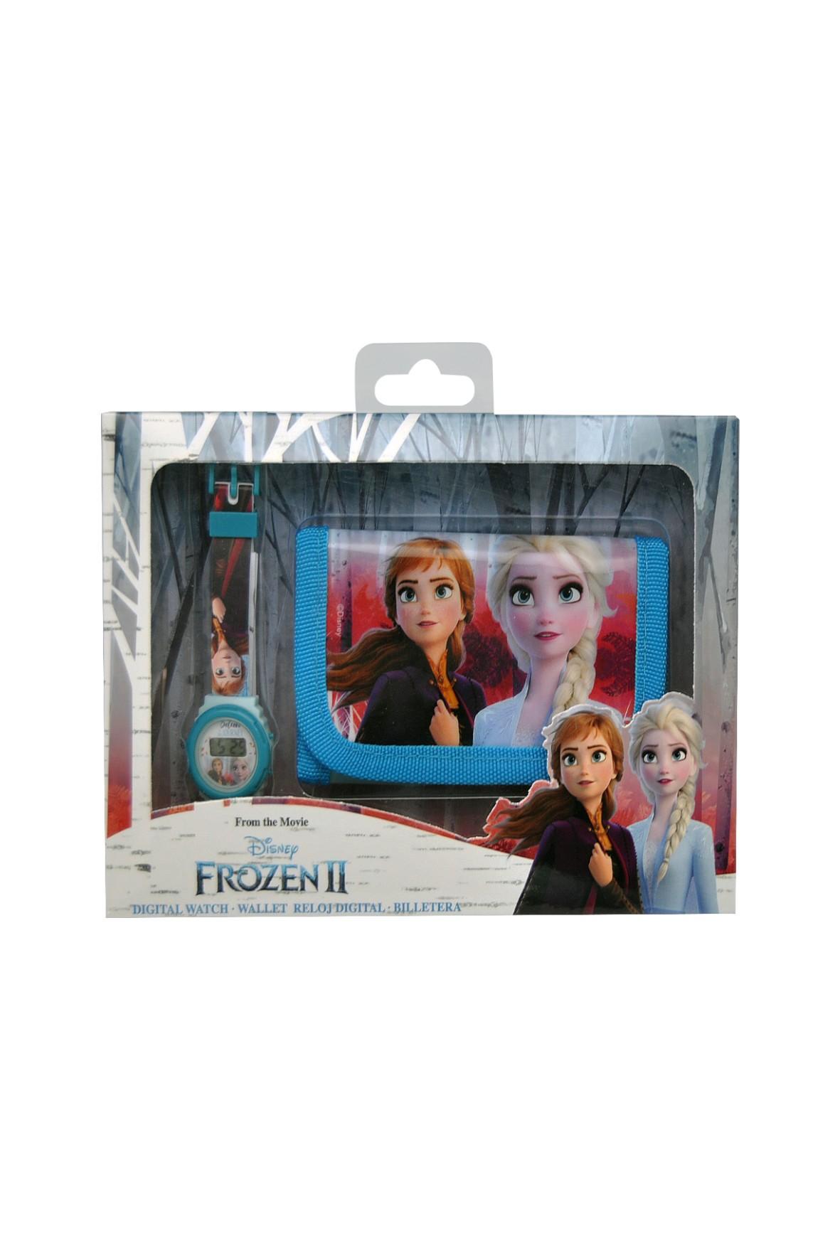 Zegarek cyfrowy z portfelikiem Frozen