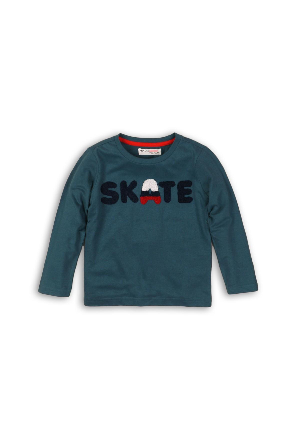 Niebieska bluzka z długim rękawem Skate rozm 92/98