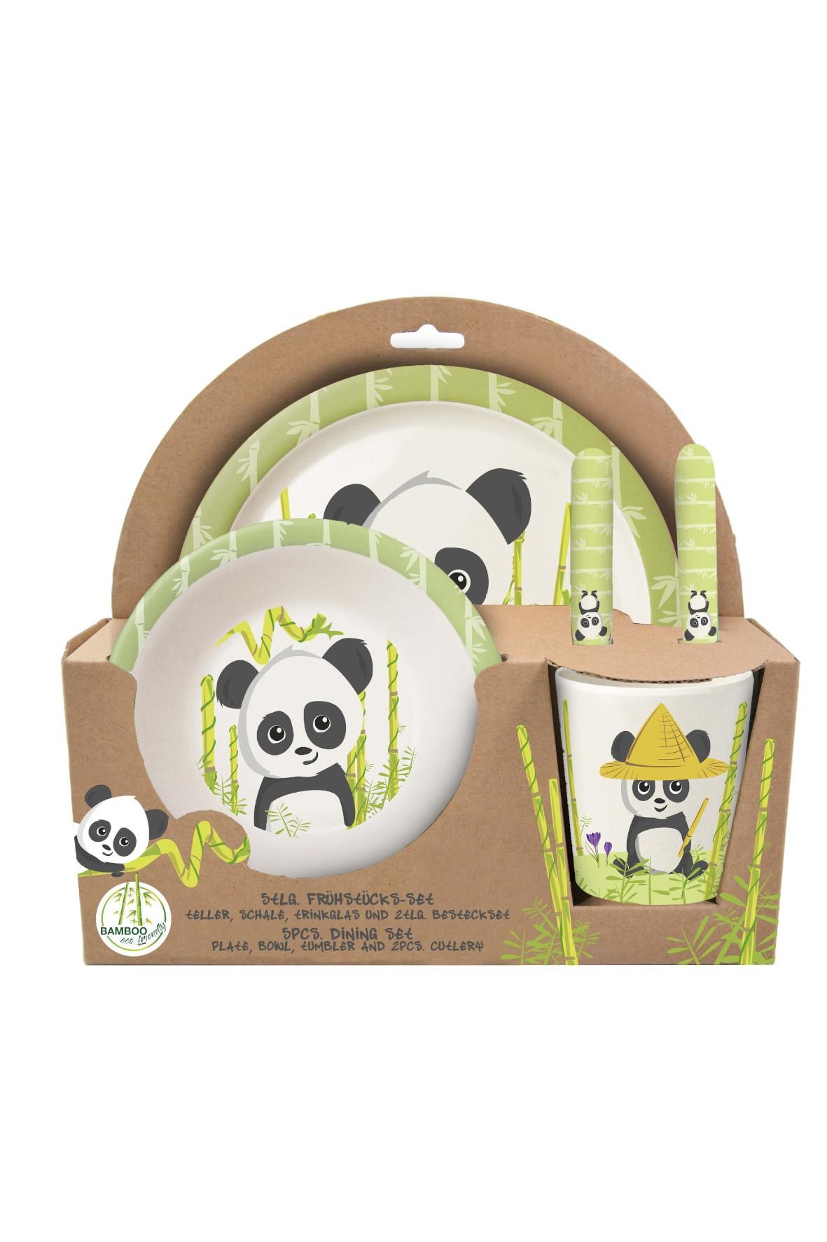 Zestaw śniadaniowy 5 częściowy Panda Bamboo