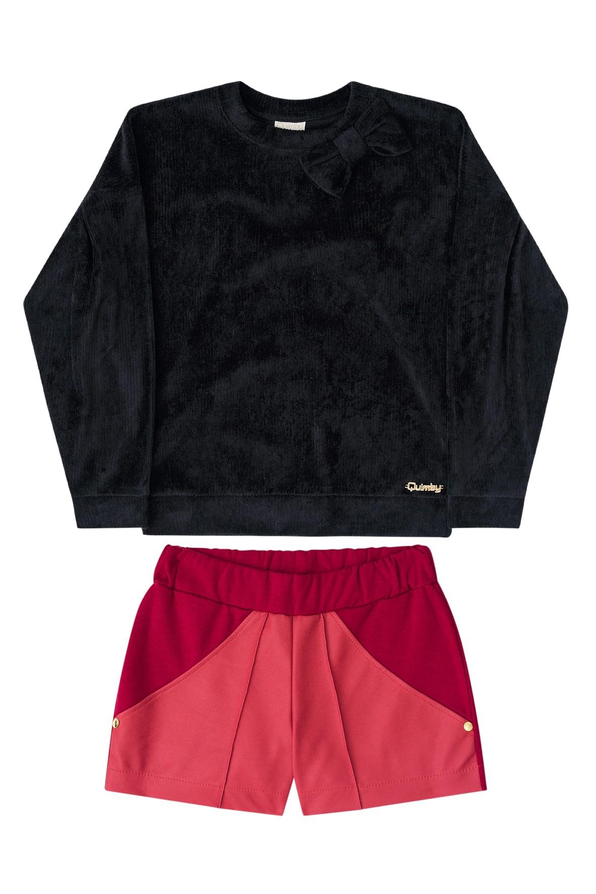 Komplet bluza i spodenki dla dziewczynki