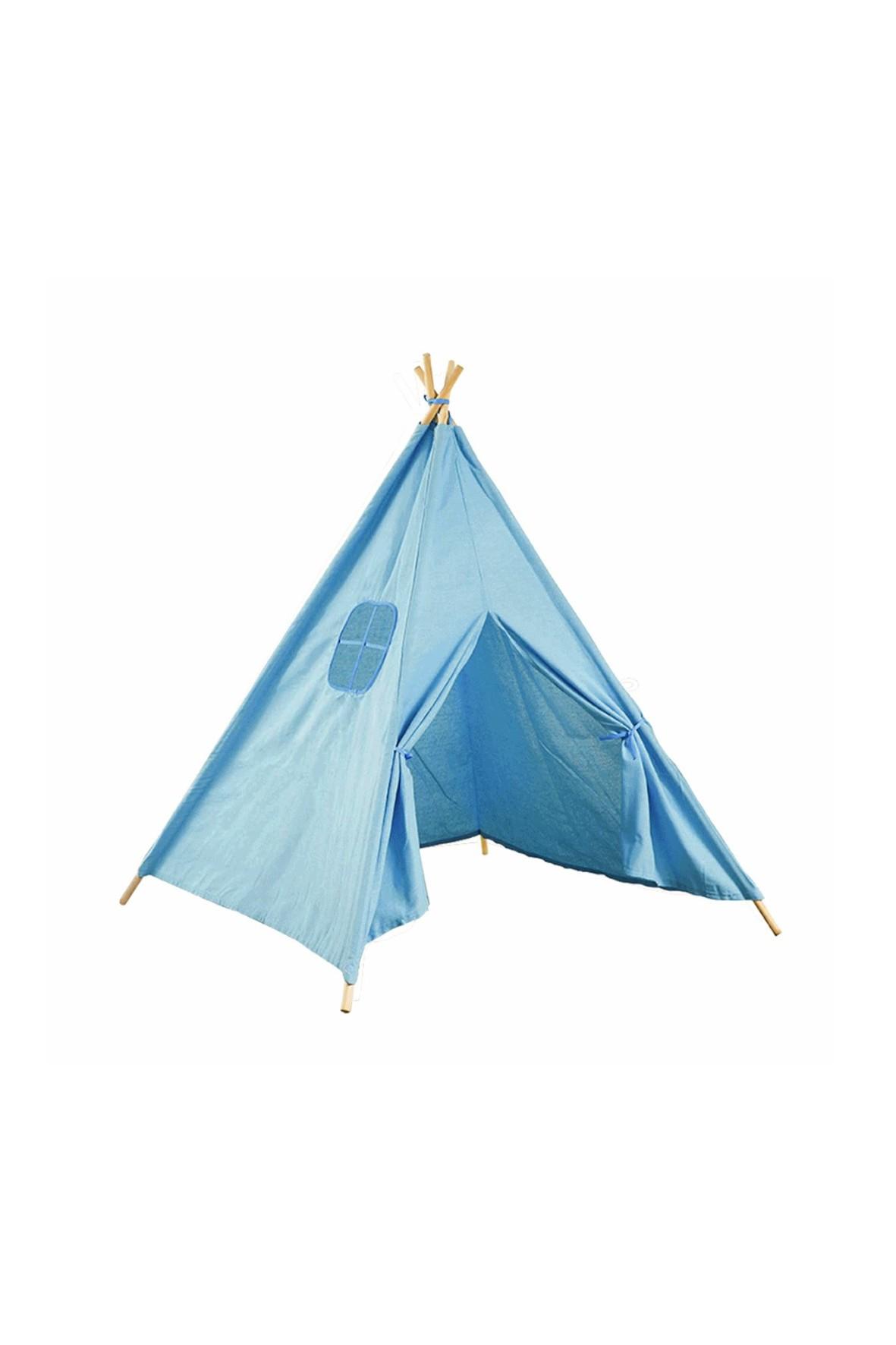 Namiot domek Teepee- niebieski 120x120x160cm