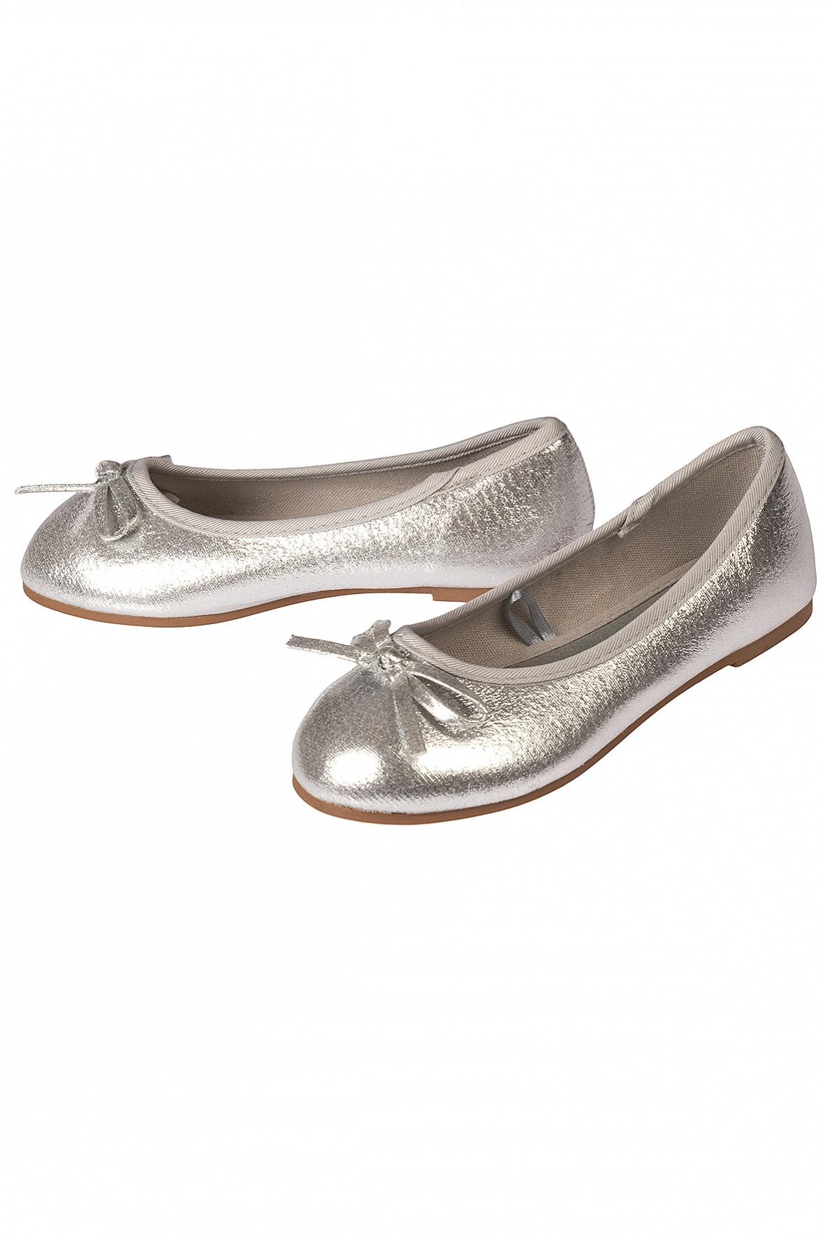 Baleriny dziewczęce srebrne