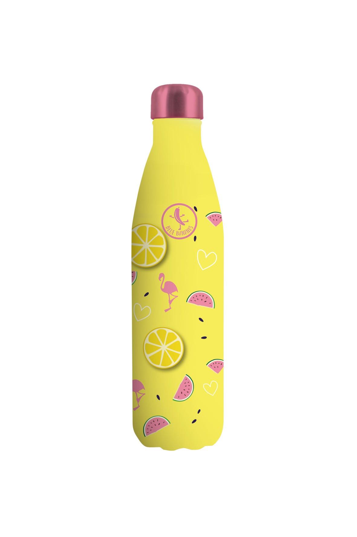 Butelka ze stali nierdzewnej o podwójnych ściankach Flamingi 500ml