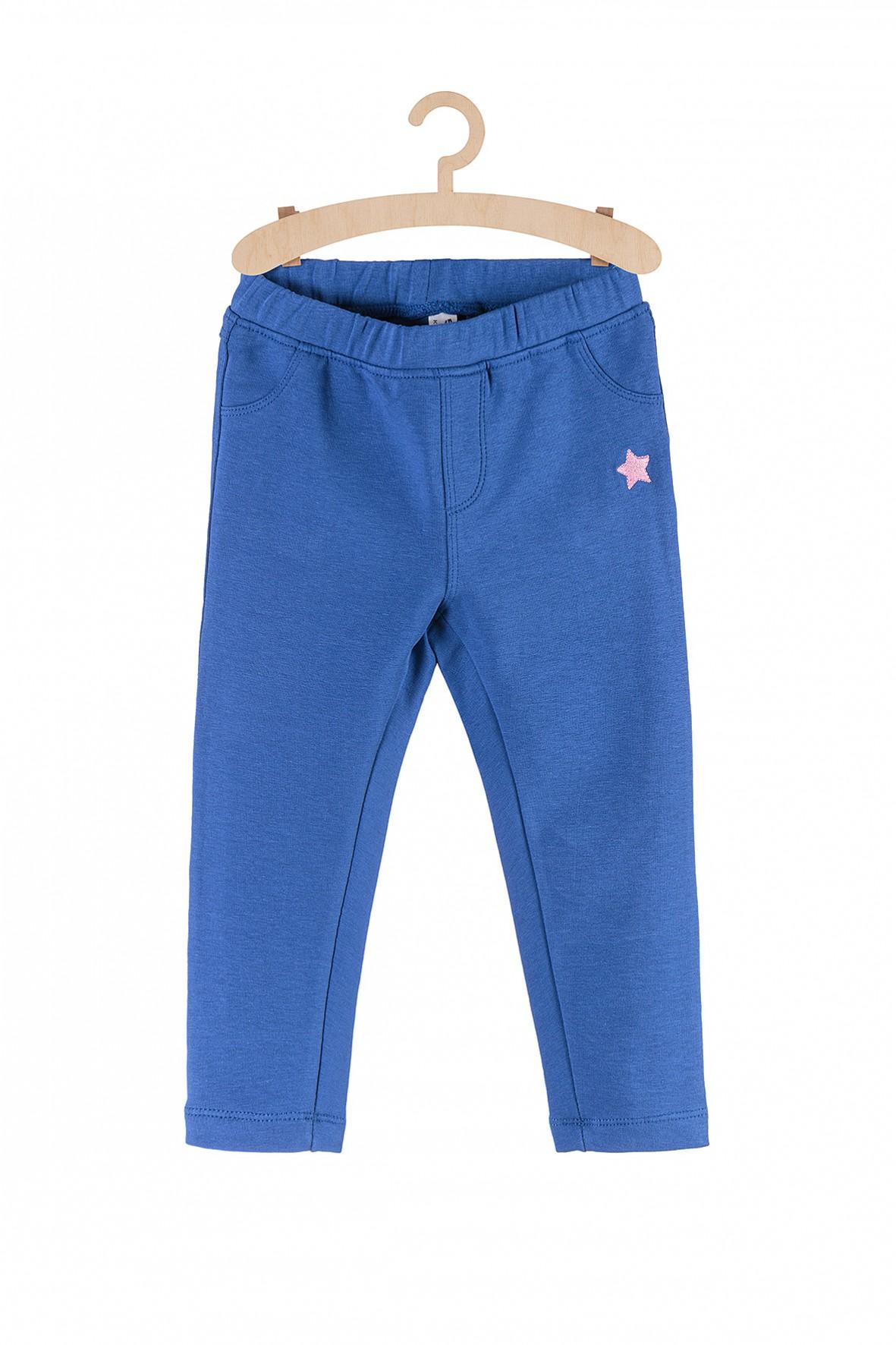 Spodnie dresowe niebieskie z różowa gwiazdkę