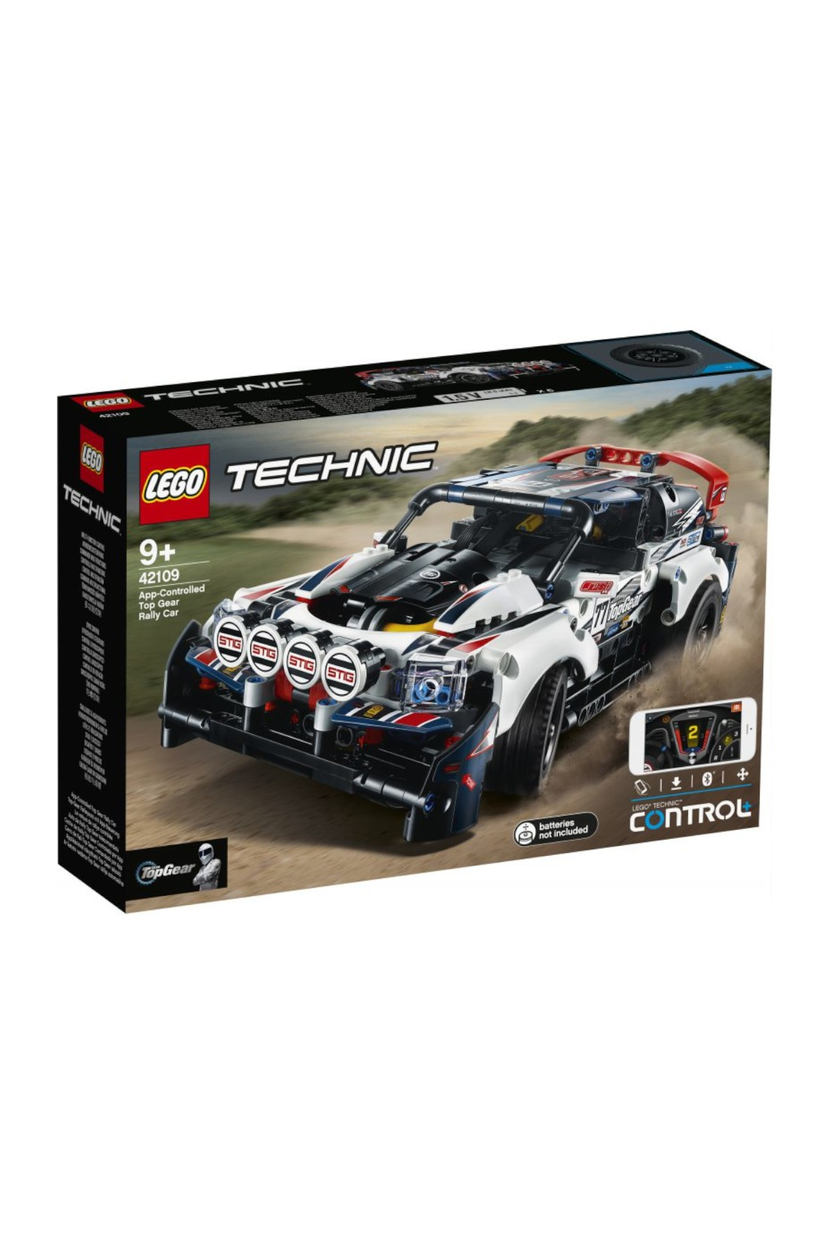 LEGO Technic - Auto wyścigowe Top Gear sterowane przez aplikację - 463 elementów, wiek 9+