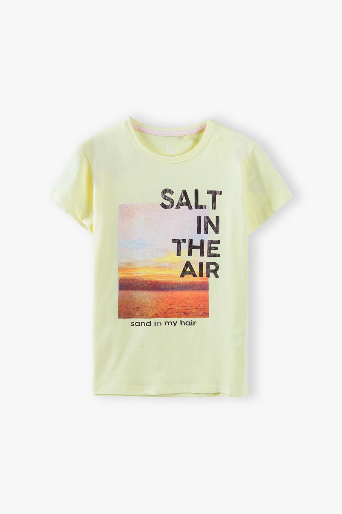 T- shirt dziewczęcy dzianinowy